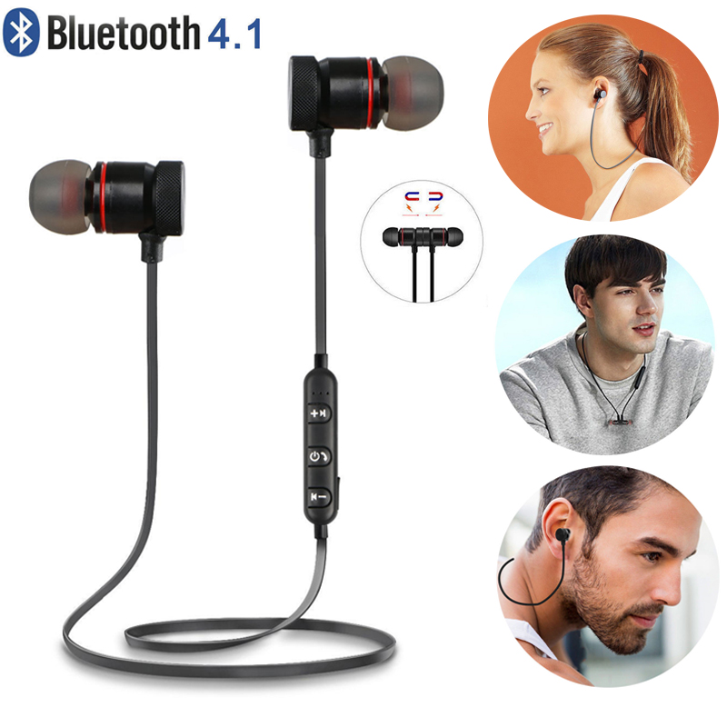 Bluetooth 4.1 Headphones Wireless Magnetic Sports Earphones Earbuds Gym Headset