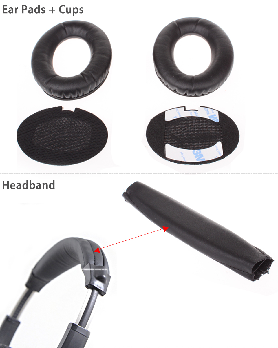Replacement Ear Pads Headband Cushion for Bose QuietComfort QC15 QC2 ...