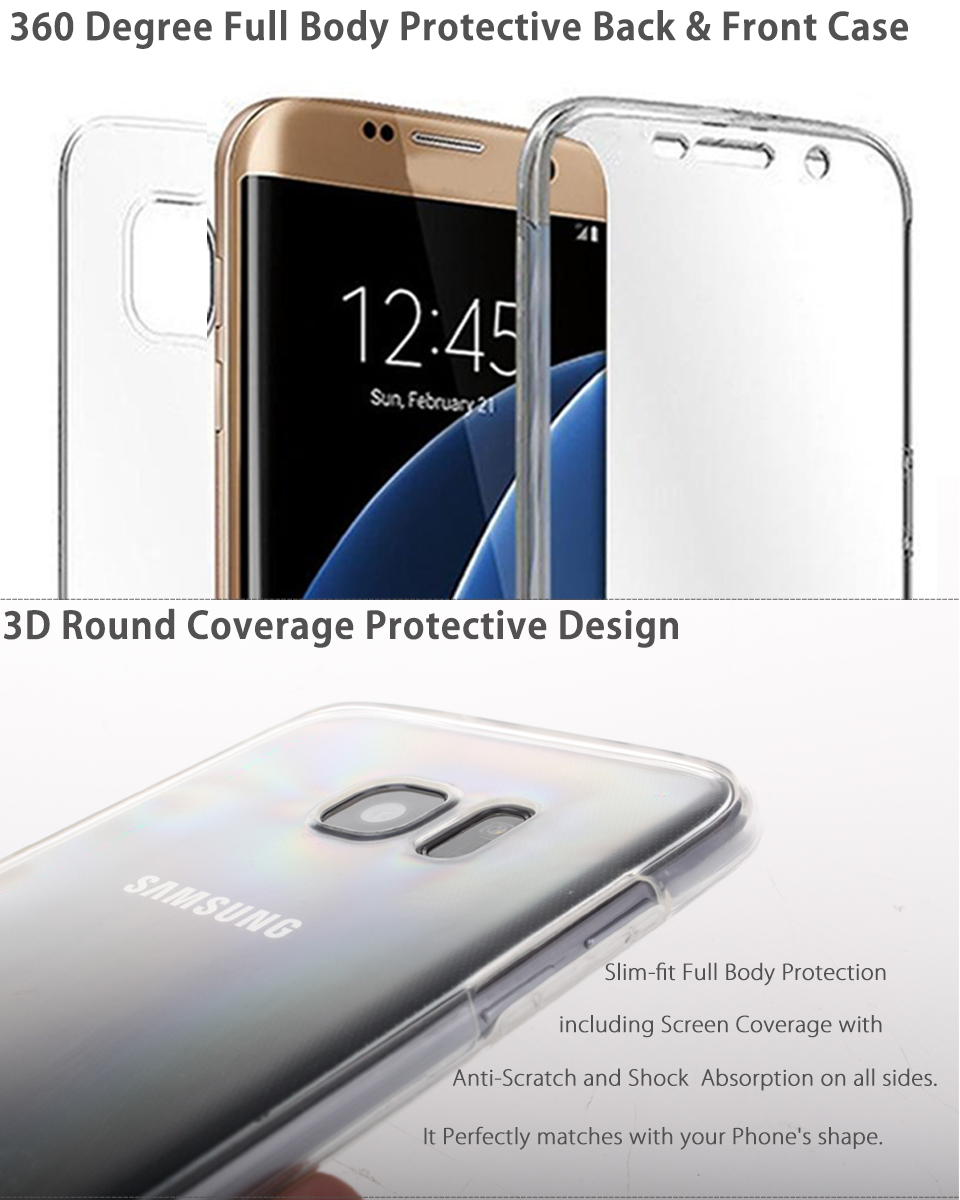 For Samsung Galaxy S8 Plus S7 Edge S6 Crystal Clear TPU ...