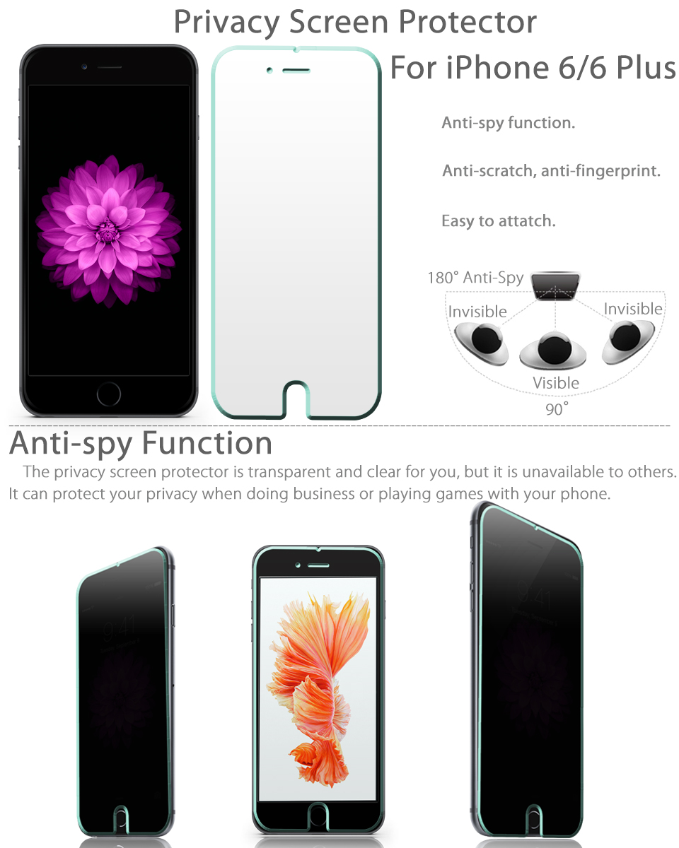 ... Private Screen Protector AntiSpy Film for iPhone 7 /6 4.7 Plus | eBay