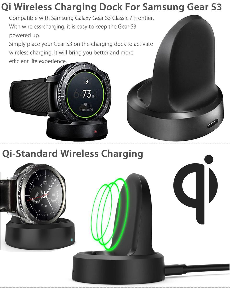 qi wireless charging dock cradle charger for samsung gear. Black Bedroom Furniture Sets. Home Design Ideas