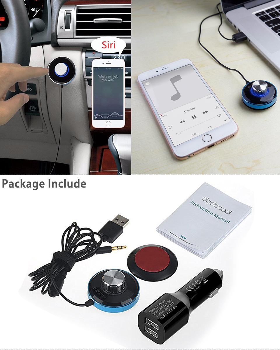 Bluetooth 4 0 Wireless Music Receiver 3 5mm Adapter Car Handsfree Aux Speaker: Bluetooth 4.0 Wireless Music Receiver 3.5mm Adapter Car Handsfree AUX Speaker