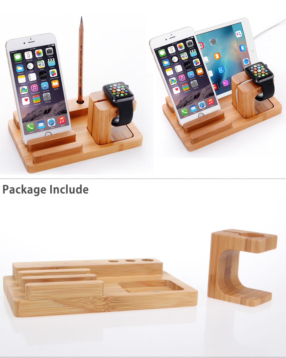 3 in 1 charger holder docking station cradle for apple. Black Bedroom Furniture Sets. Home Design Ideas