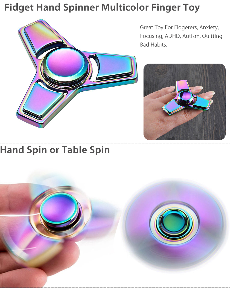 Fingertip Gyro Handheld Toy Finger Focusing Fidget Toy Adults Home Office Toy