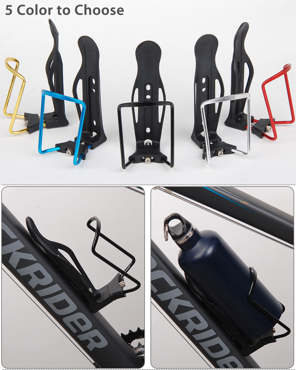 Sports Bike Bicycle Cycling Drink Water Bottle Holder Aluminum Alloy Rack Cages