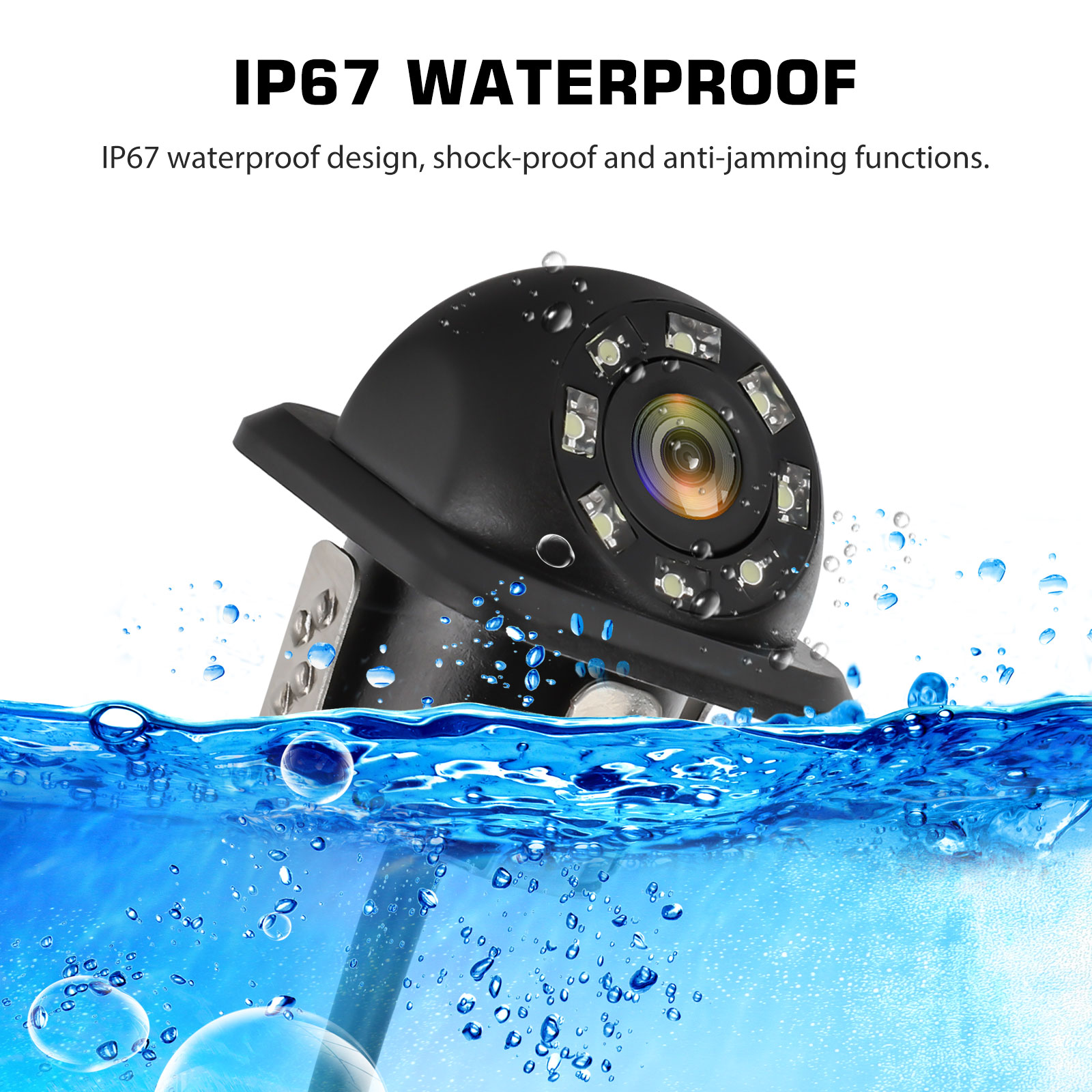 Waterproof-8-LED-Car-Backup-Rear-View-Reverse-Parking-HD-Camera-w-Night-Vision thumbnail 6