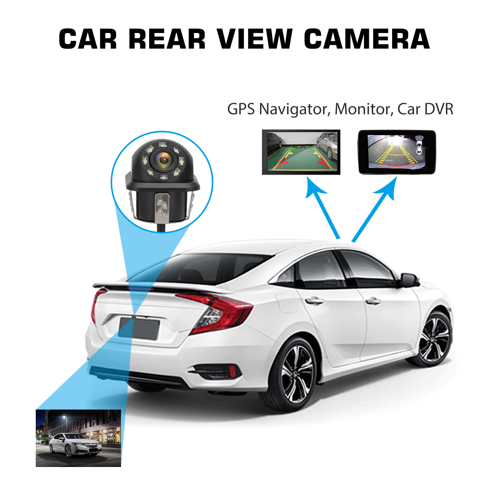 Waterproof-8-LED-Car-Backup-Rear-View-Reverse-Parking-HD-Camera-w-Night-Vision thumbnail 7