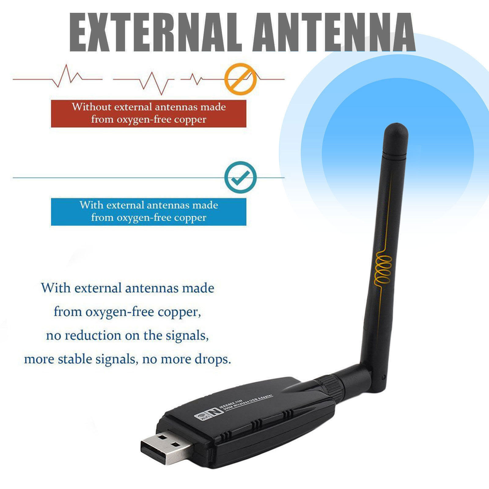 1200Mbps-Dual-Band-2-4GHz-5GHz-Wireless-USB-3-0-WiFi-Adapter-802-11AC-w-Antenna thumbnail 18