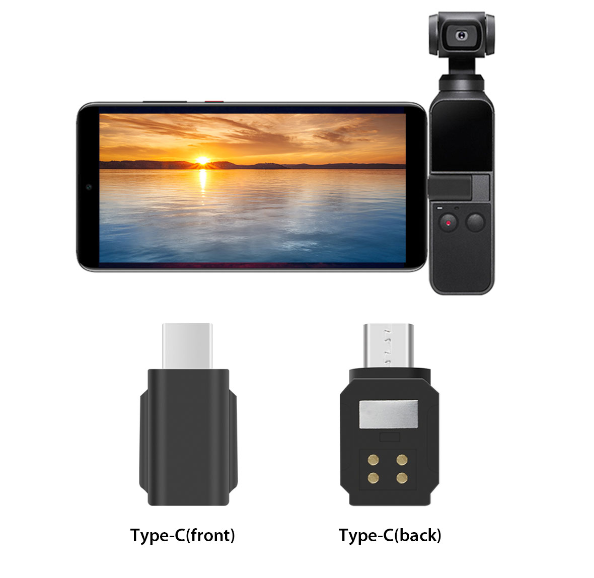 Phone-Adapter-Converter-for-DJI-OSMO-Pocket-Android-Miro-USB-Type-C-Connector thumbnail 12