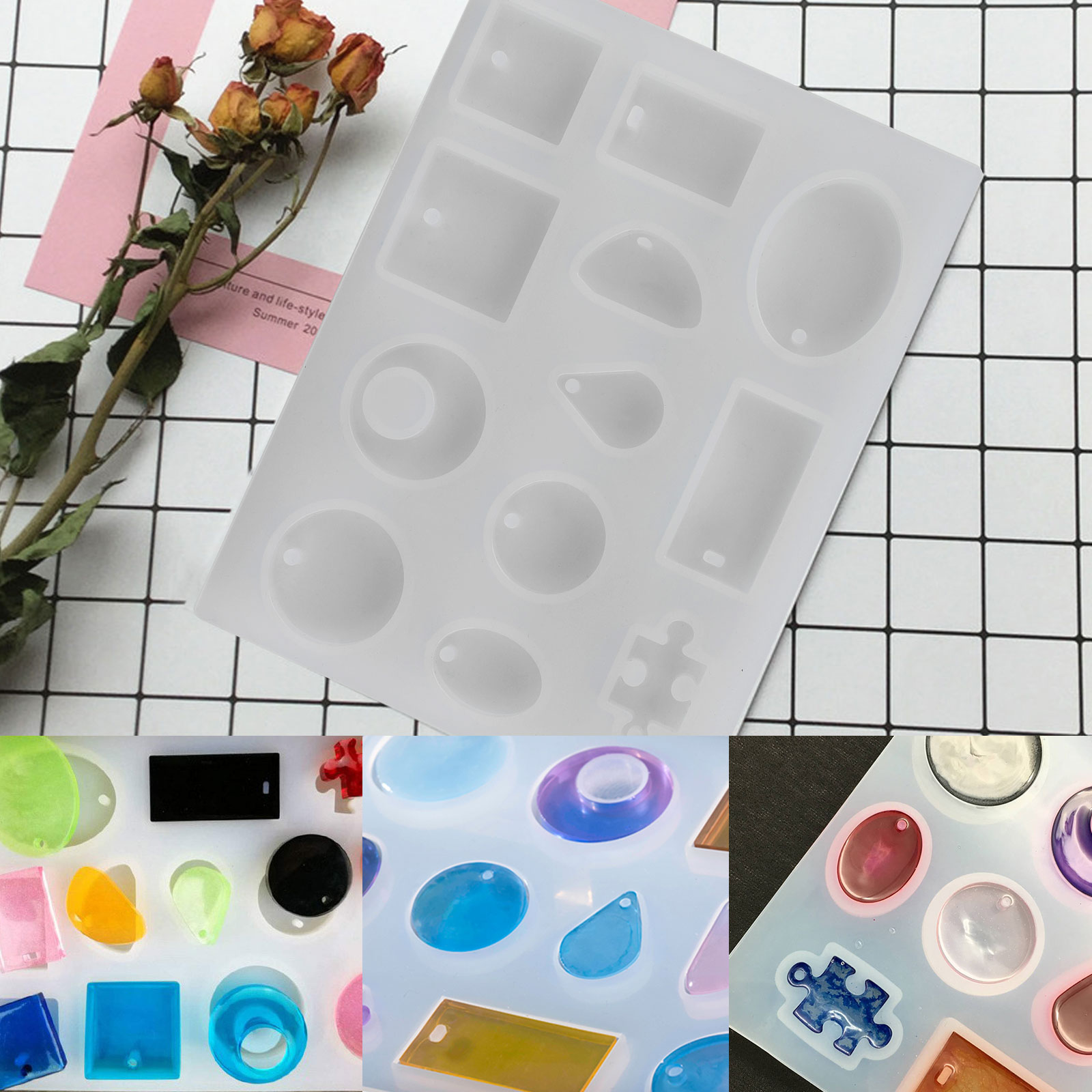 Lot-Resin-Casting-Silicone-Molds-Epoxy-Spoon-Jewelry-Making-Pendant-Craft-DIY-US thumbnail 12