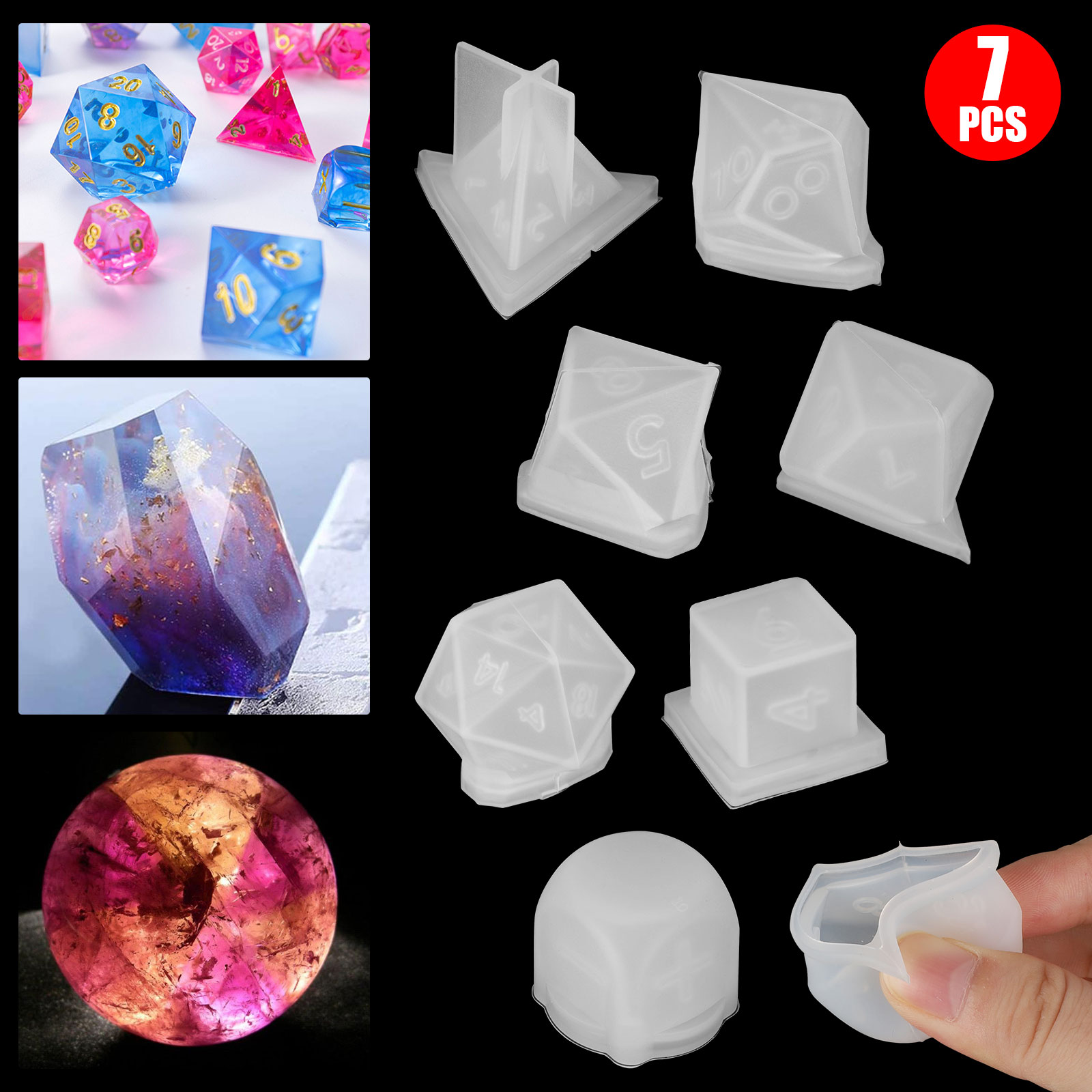 Lot-Resin-Casting-Silicone-Molds-Epoxy-Spoon-Jewelry-Making-Pendant-Craft-DIY-US thumbnail 15