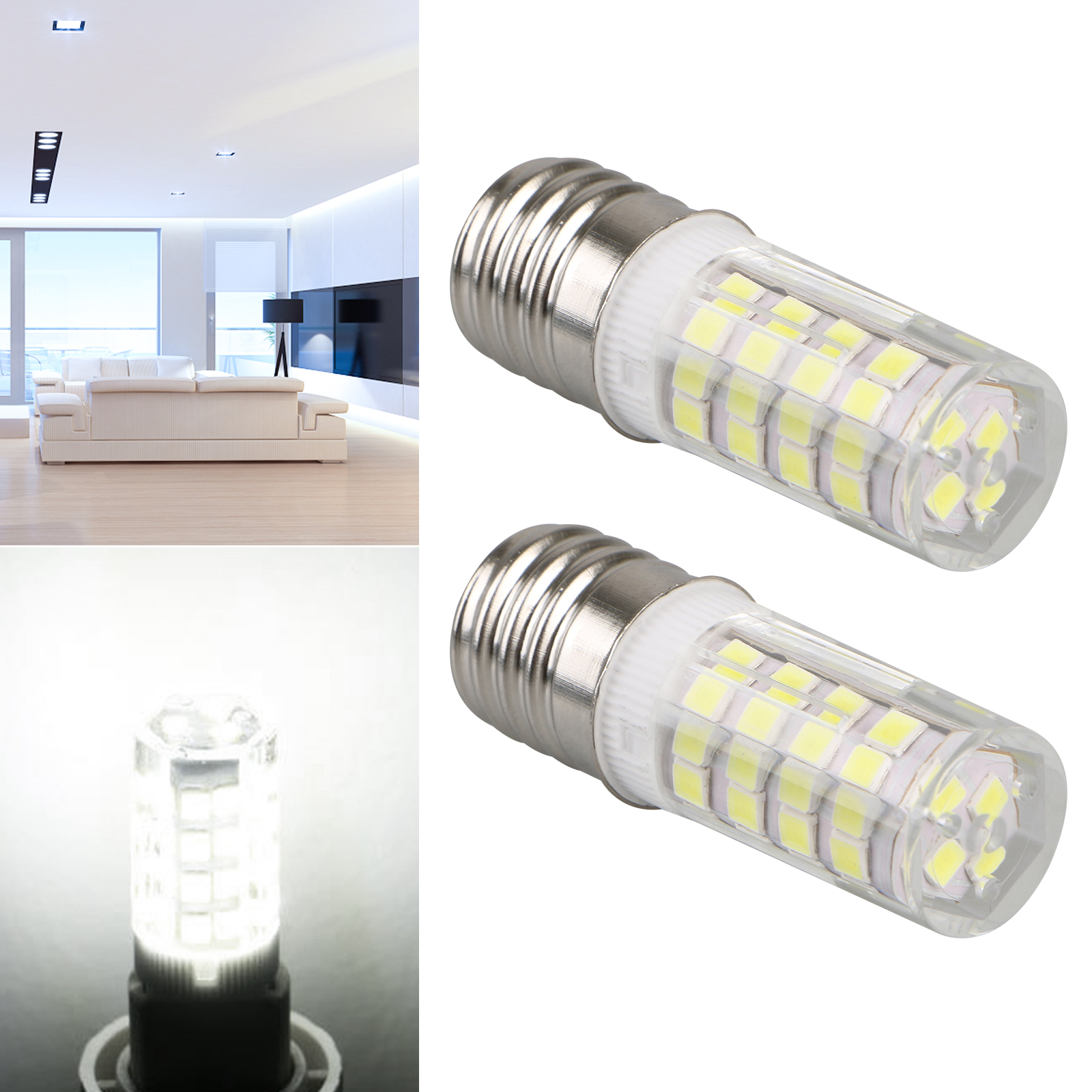 1-2PCS-E17-LED-Bulb-Microwave-Oven-Light-Dimmable-4W-Natural-White-6000K-Light thumbnail 4