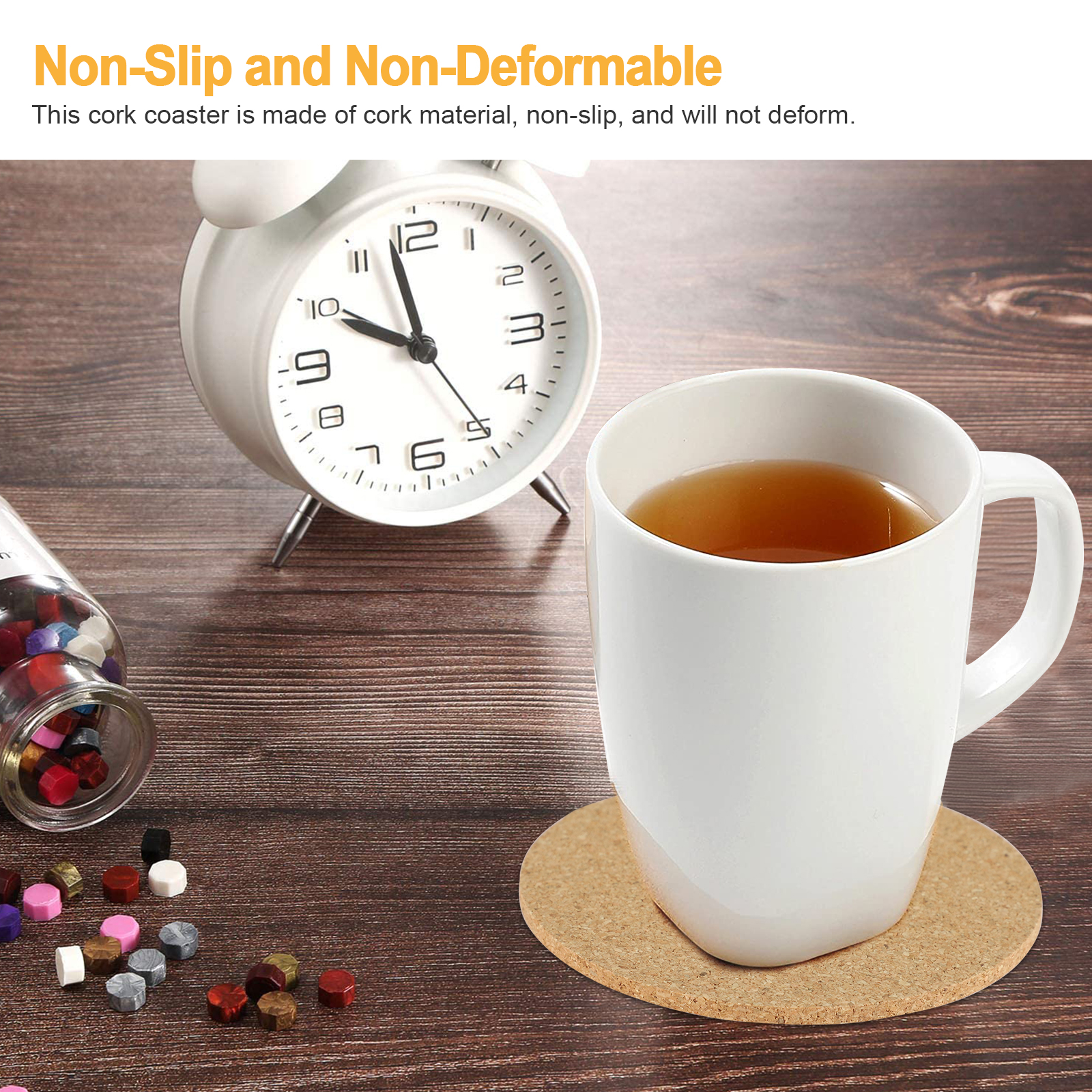 8-16pcs-Cork-Drink-Coasters-Tea-Coffee-Absorbent-Round-Cup-Mat-Table-Decor-Home thumbnail 2