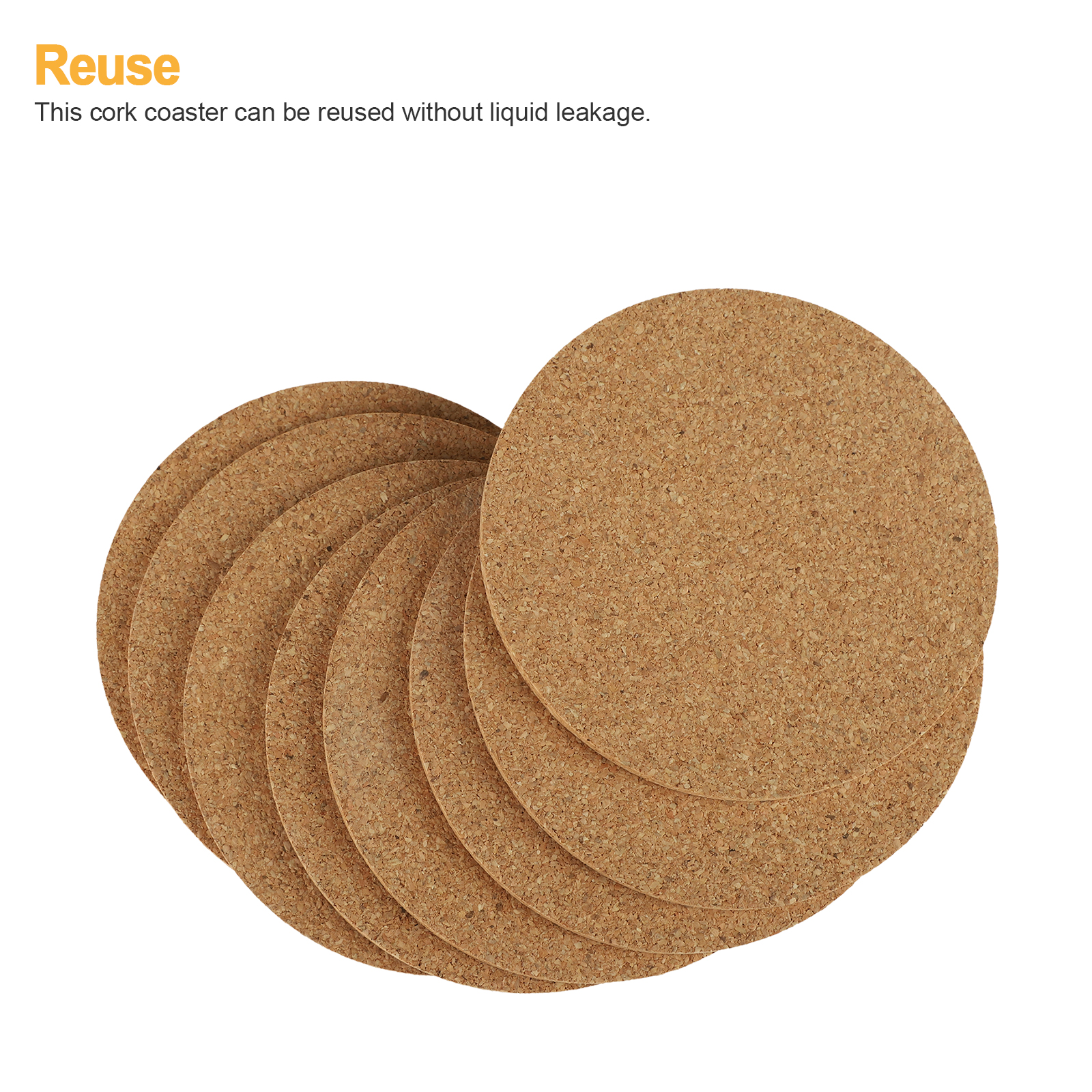 8-16pcs-Cork-Drink-Coasters-Tea-Coffee-Absorbent-Round-Cup-Mat-Table-Decor-Home thumbnail 5