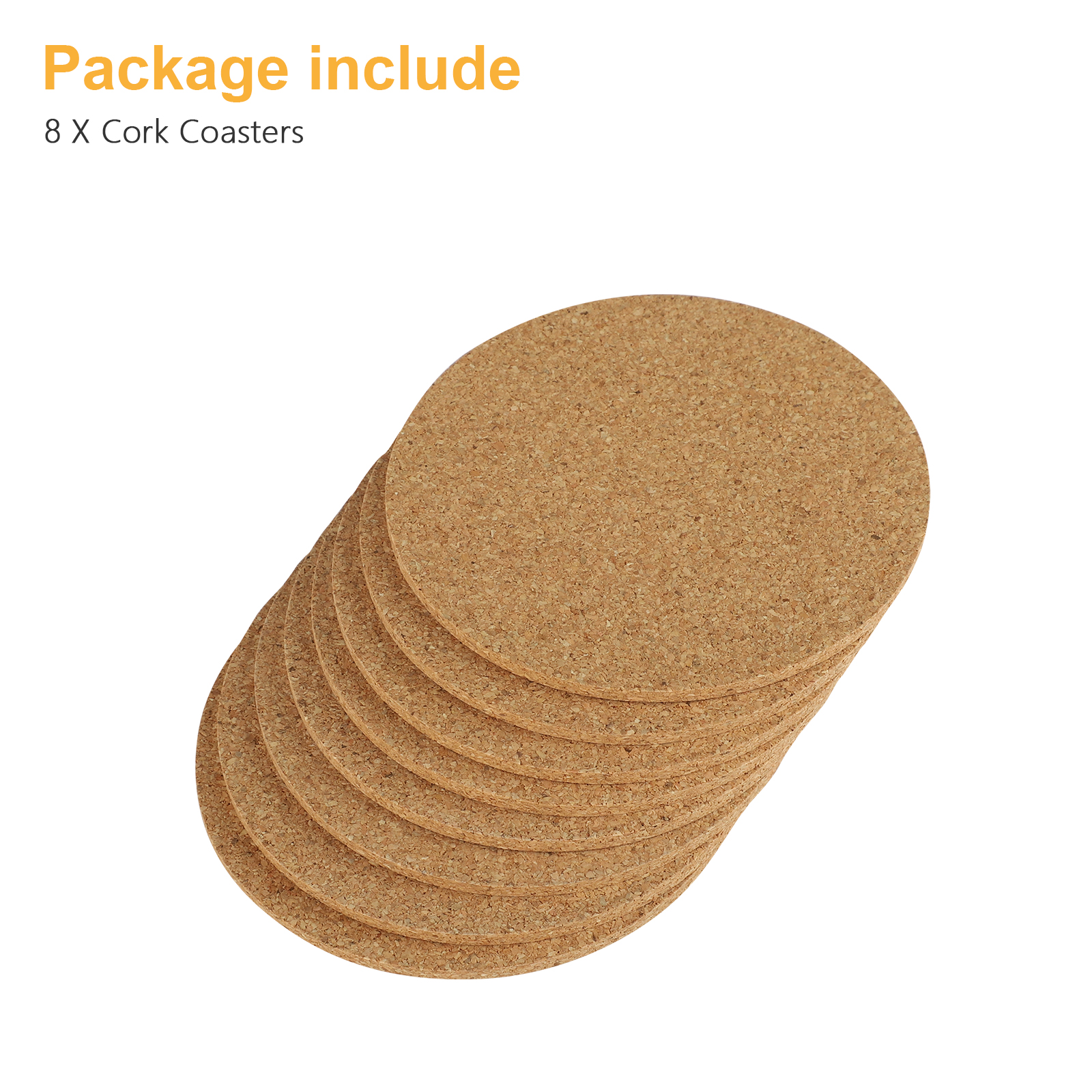 8-16pcs-Cork-Drink-Coasters-Tea-Coffee-Absorbent-Round-Cup-Mat-Table-Decor-Home thumbnail 8