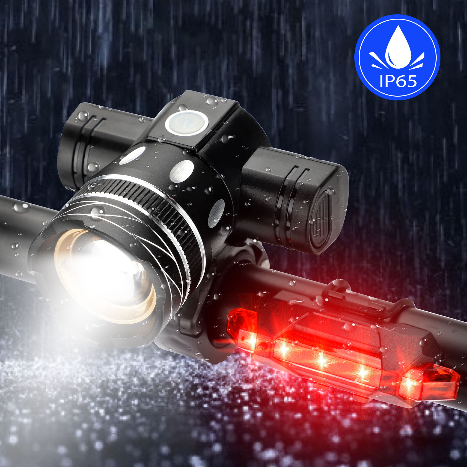 thumbnail 4 - IP65-Bike-Front-Rear-LED-Light-Set-USB-Rechargeable-Bicycle-Headlight-Taillight