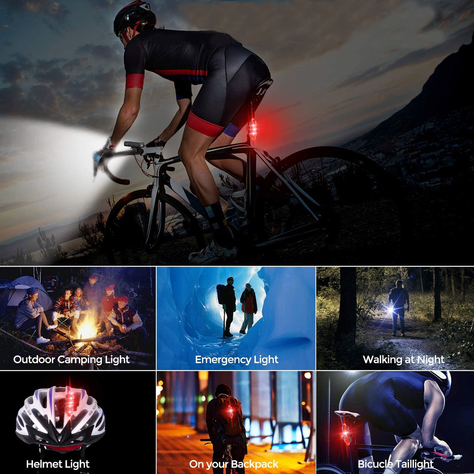 thumbnail 6 - IP65-Bike-Front-Rear-LED-Light-Set-USB-Rechargeable-Bicycle-Headlight-Taillight
