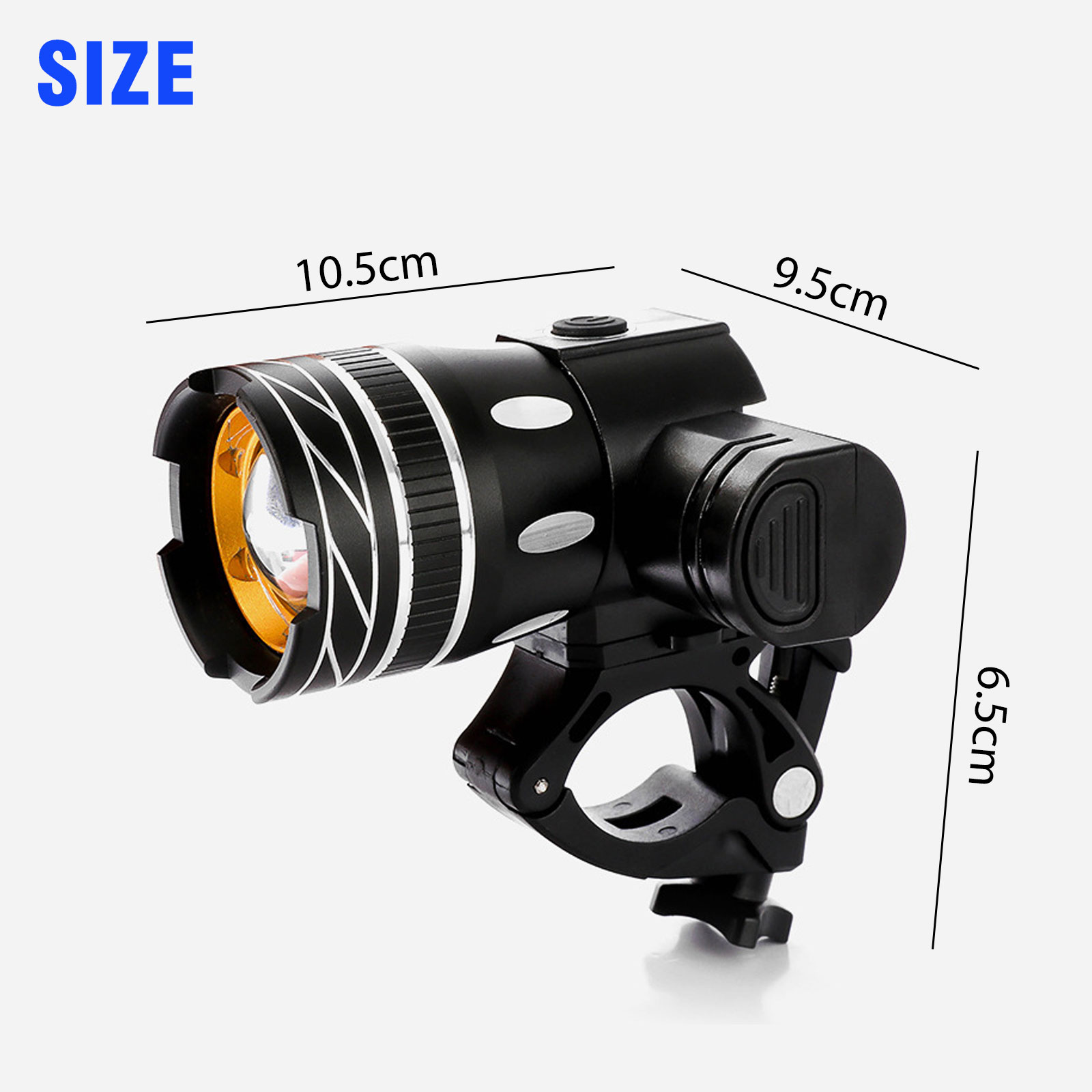 thumbnail 8 - IP65-Bike-Front-Rear-LED-Light-Set-USB-Rechargeable-Bicycle-Headlight-Taillight
