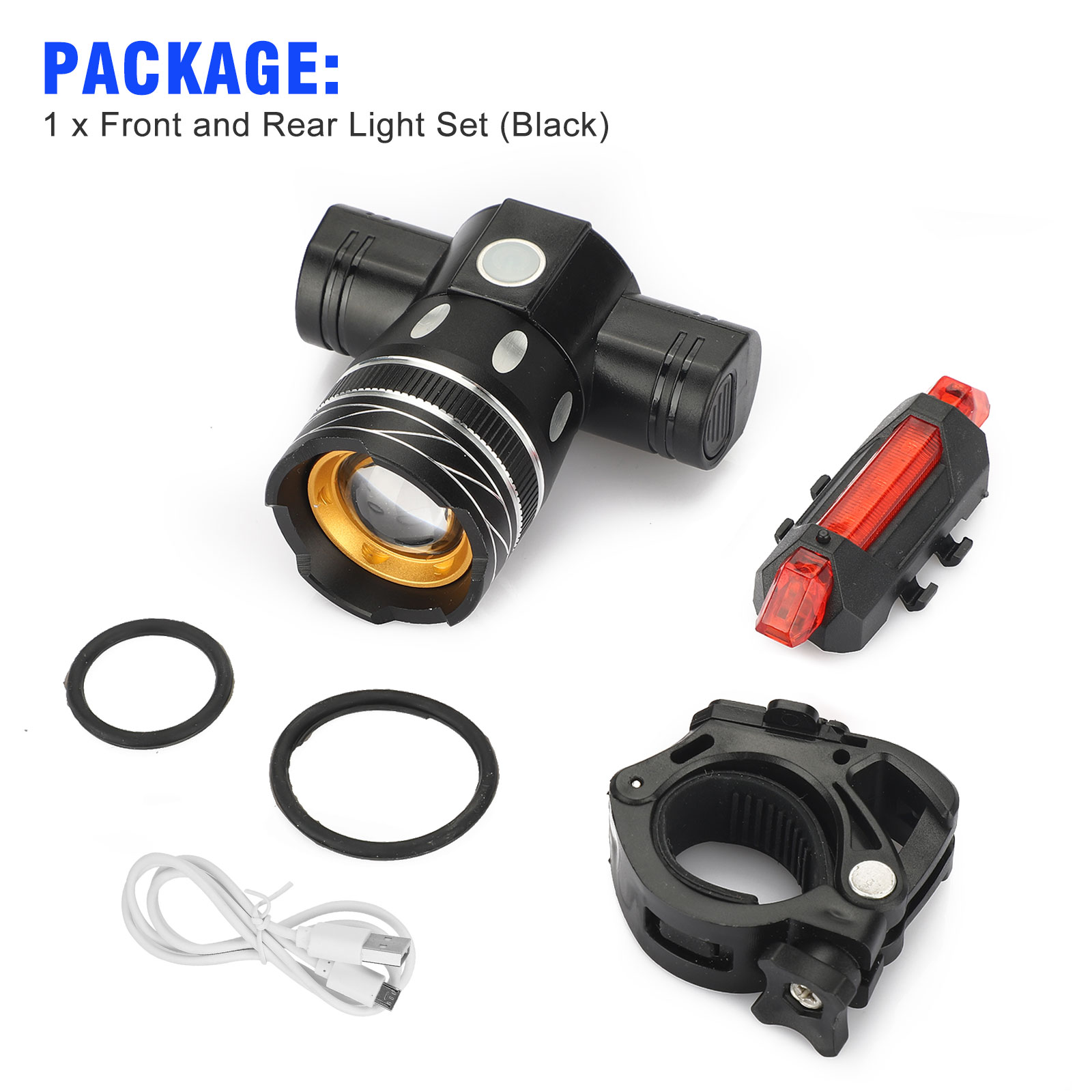 thumbnail 9 - IP65-Bike-Front-Rear-LED-Light-Set-USB-Rechargeable-Bicycle-Headlight-Taillight