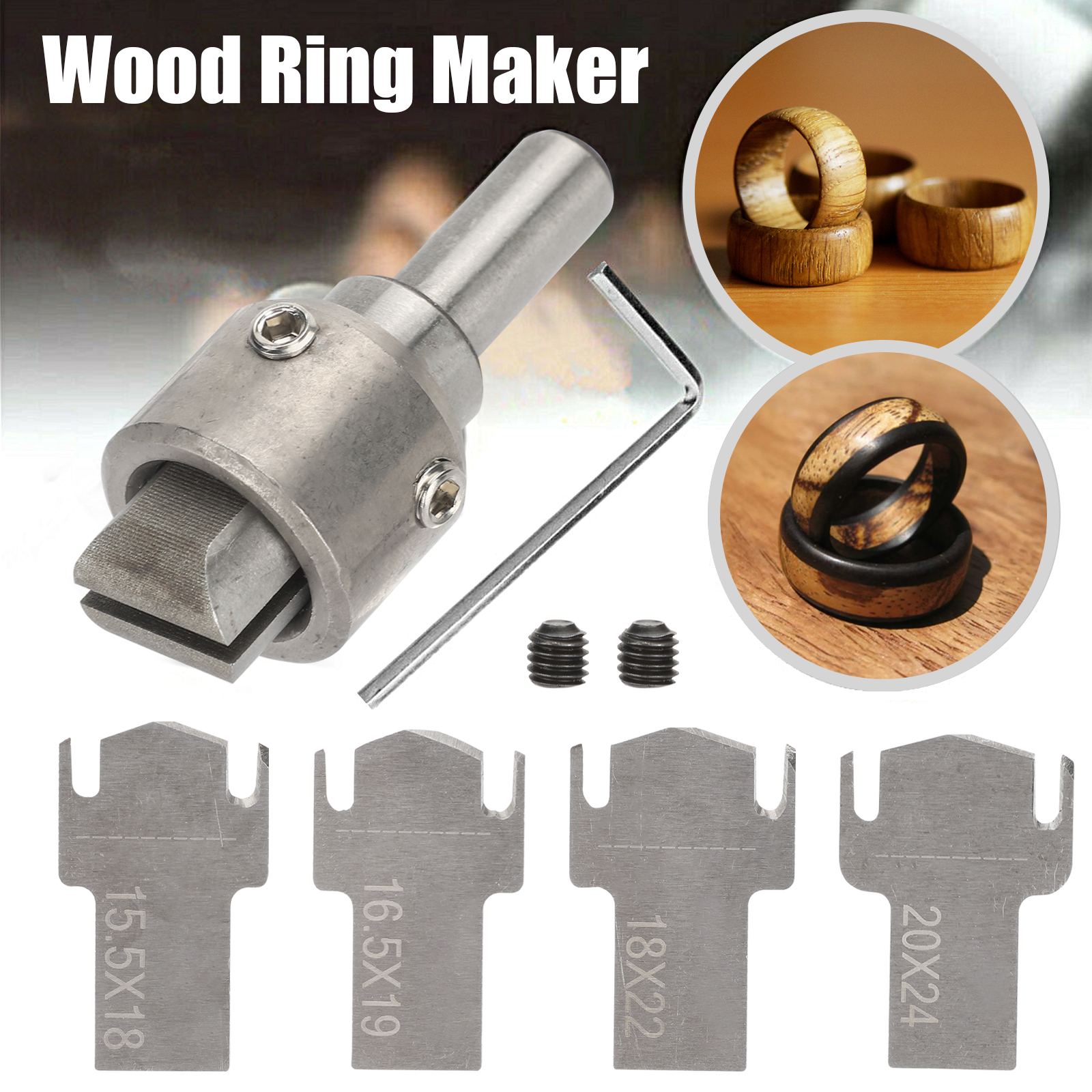 6X Ring Drill Bit Maker Wooden Thick High Speed Steel Multi