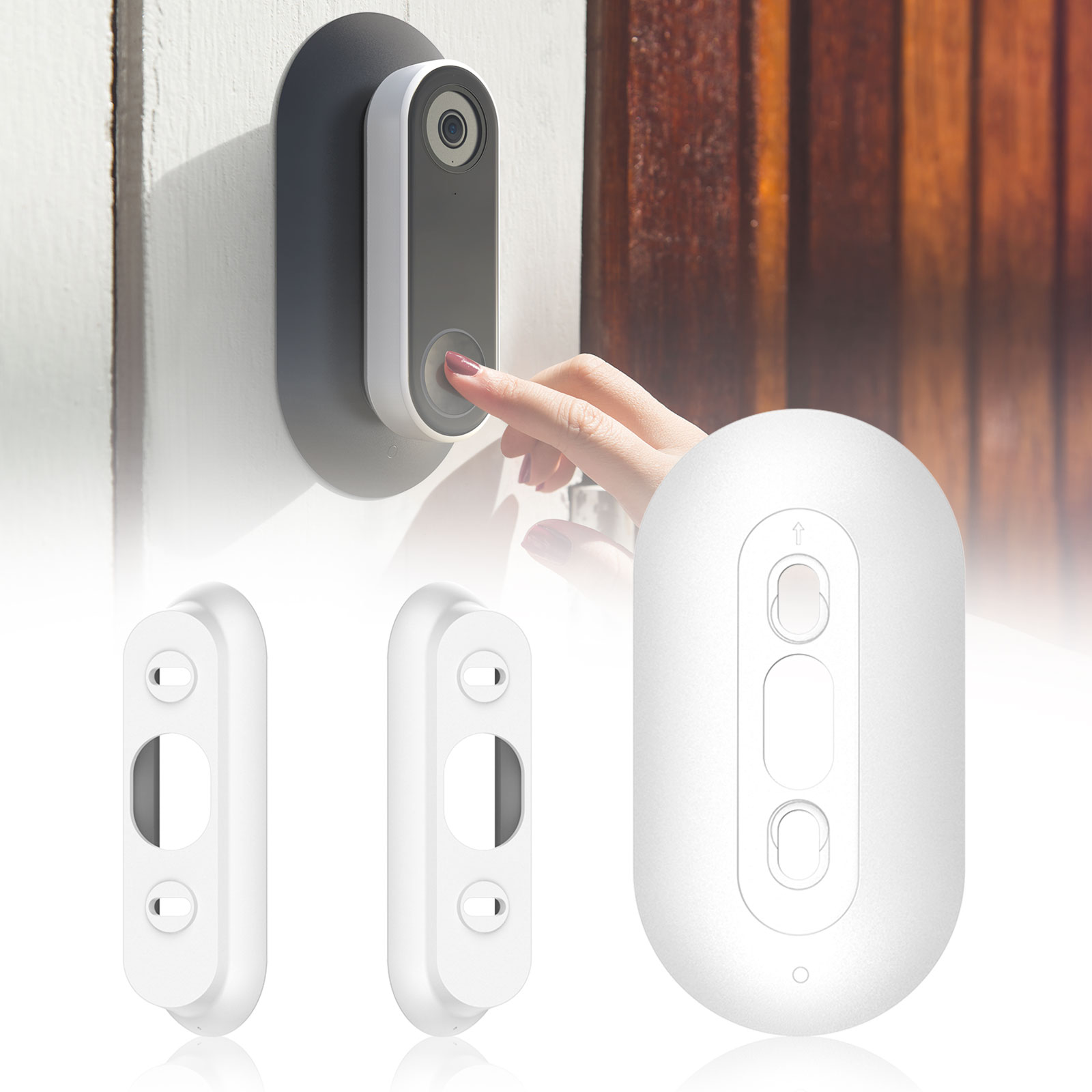 Wall-Mounted-Plate-Case-Cover-for-Nest-Hello-Doorbell-Holder-w-Adjustable-Wedge thumbnail 11