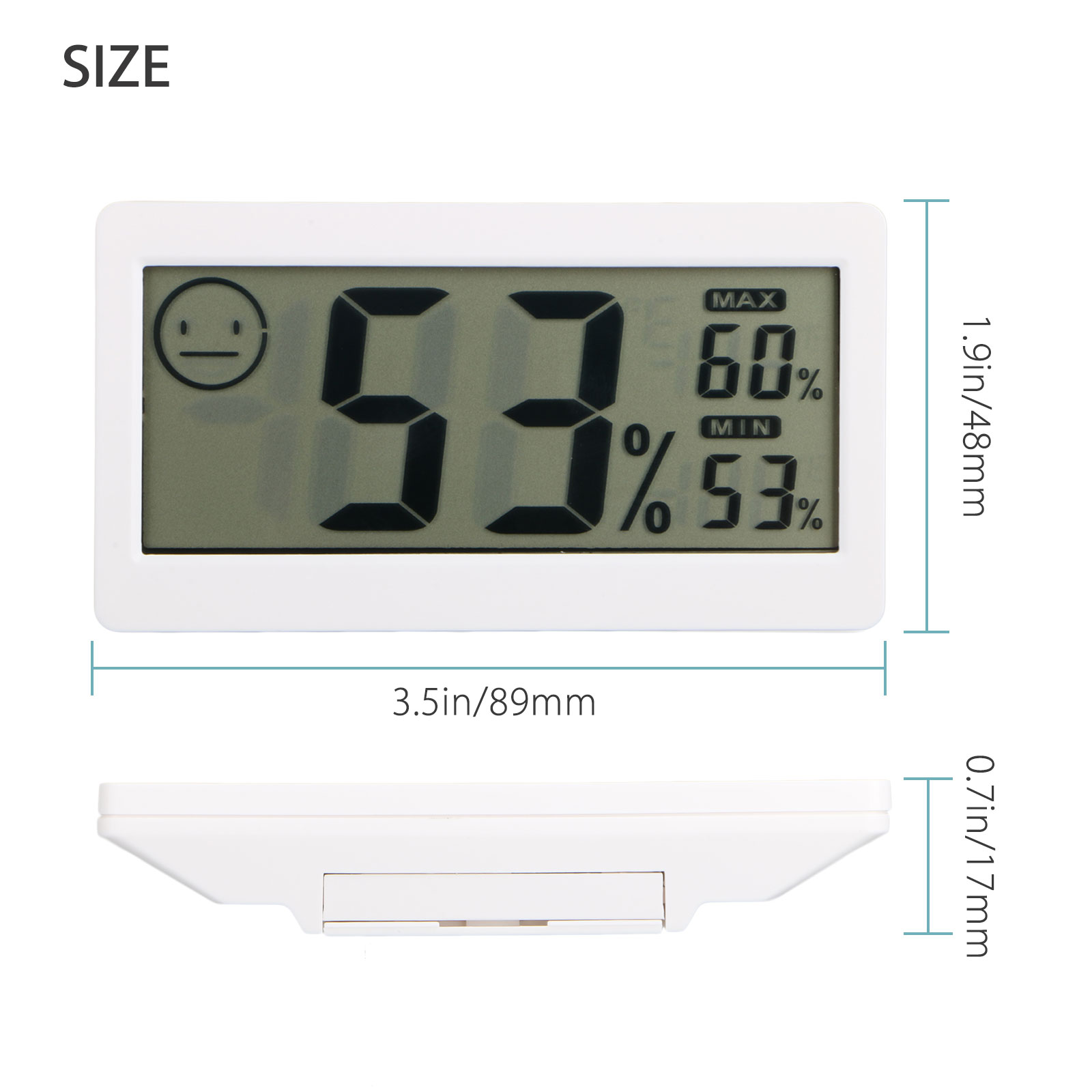 Digital-LCD-Indoor-amp-Outdoor-Weather-Station-Clock-Calendar-Thermometer-Wireless thumbnail 15
