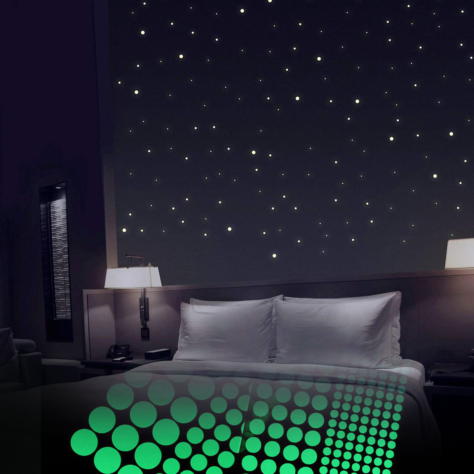Details About 400pcs Wall Glow In The Dark Stars Stickers Baby Kids Nursery Bed Room Ceiling