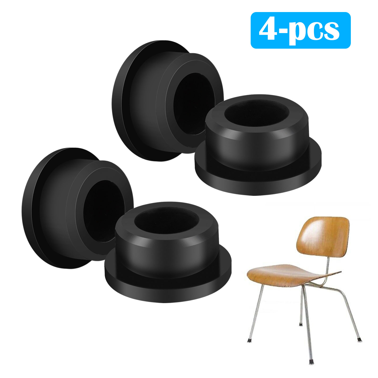 4pcs Chair Glides Replacement Fit For Eames Eiffel Style Furniture Feet Black
