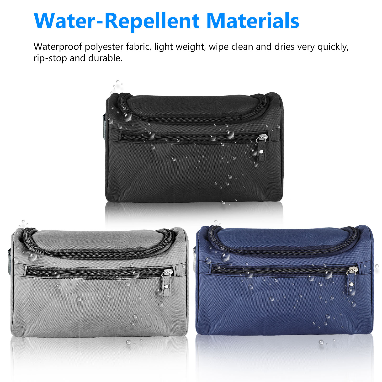 Travel-Wash-Bag-Toiletry-Organizer-Shaving-Cosmetic-Make-up-Case-Waterproof-Mens thumbnail 2