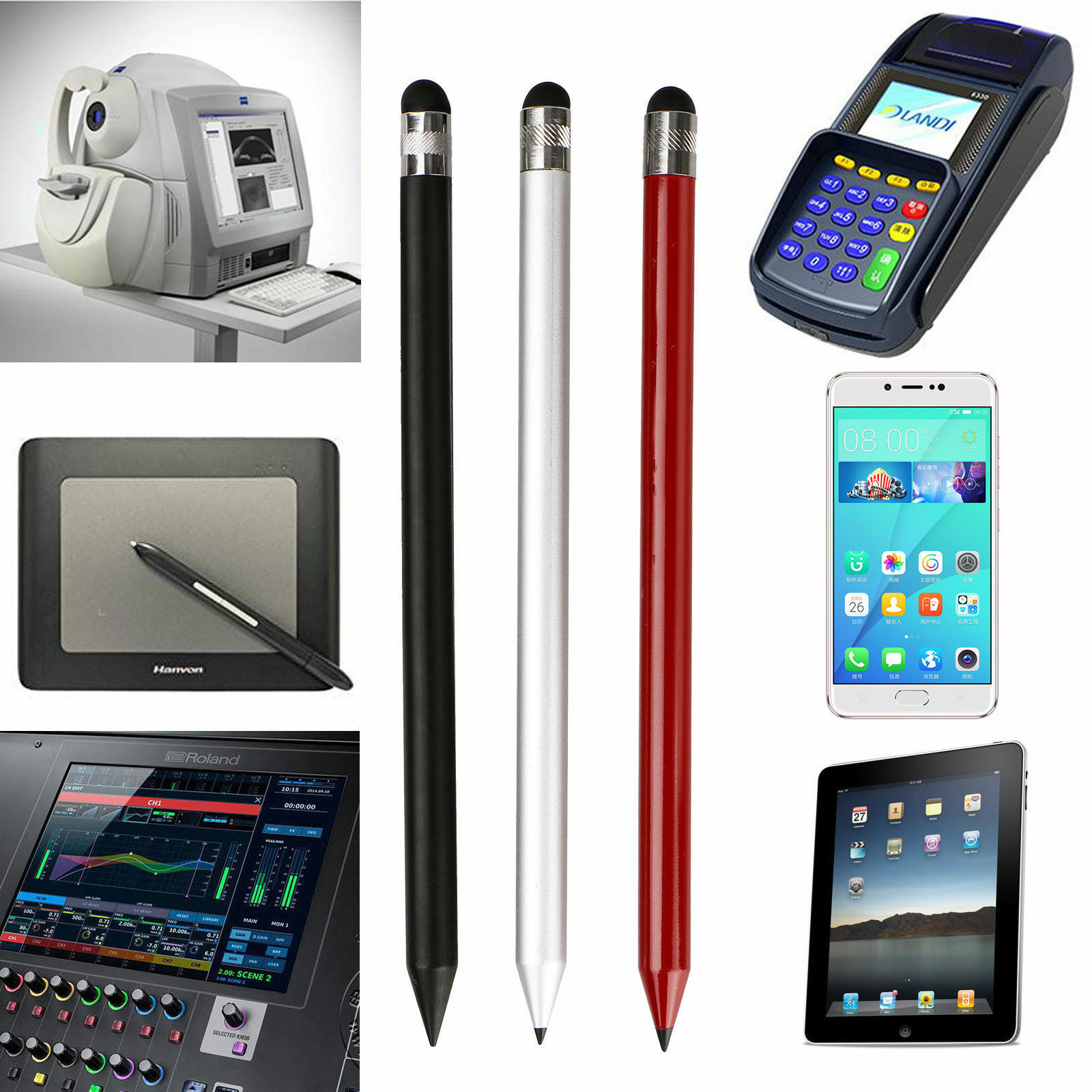 Capacitive-Pen-Touch-Screen-Stylus-Pencil-for-Tablet-iPad-Cell-Phone-Samsung-PC thumbnail 10