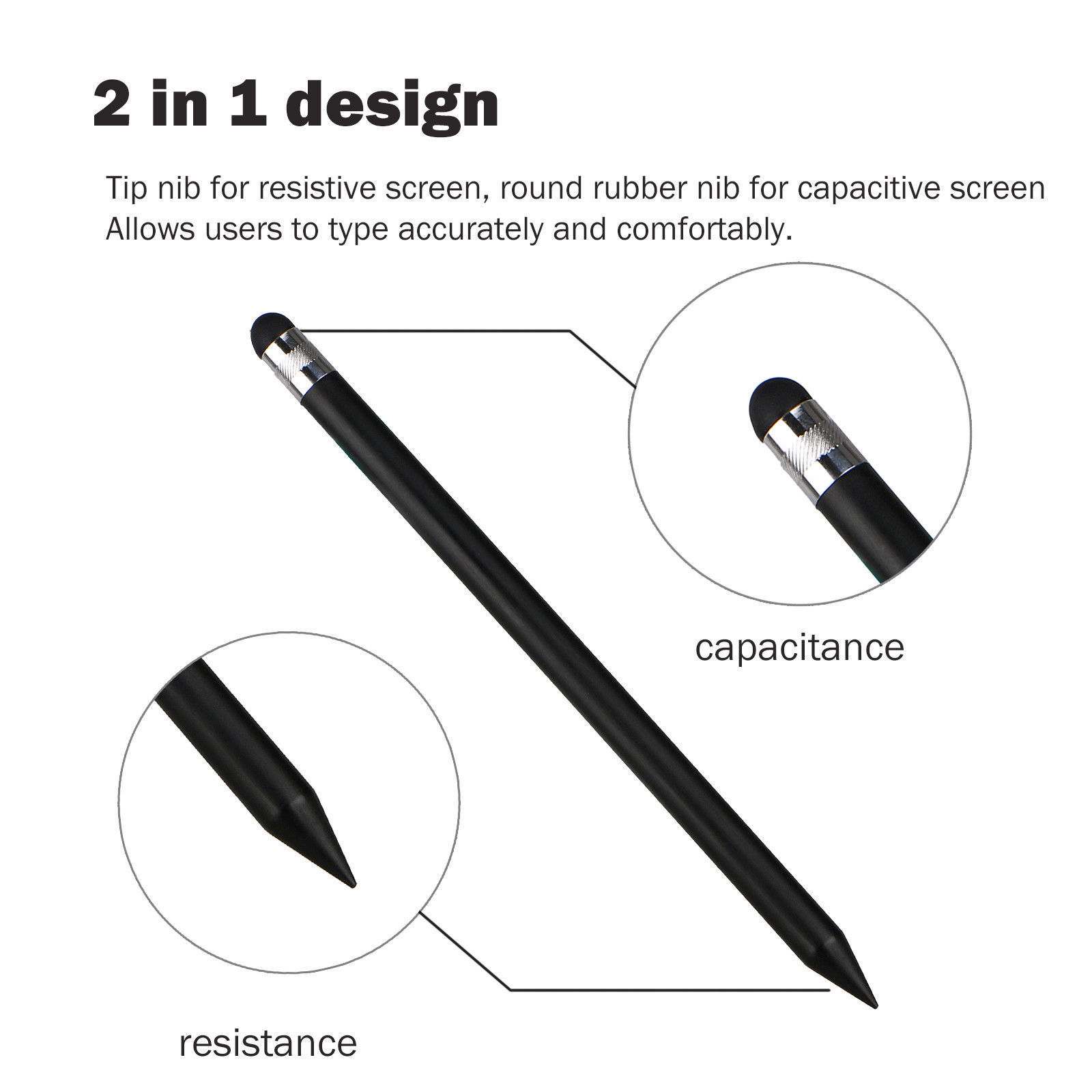 Capacitive-Pen-Touch-Screen-Stylus-Pencil-for-Tablet-iPad-Cell-Phone-Samsung-PC thumbnail 2