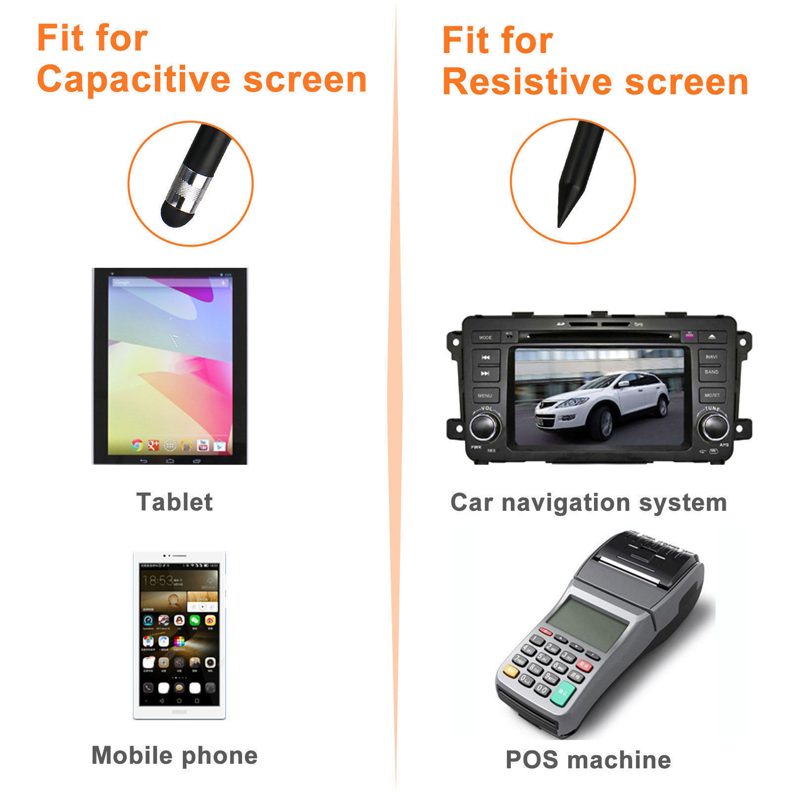 Capacitive-Pen-Touch-Screen-Stylus-Pencil-for-Tablet-iPad-Cell-Phone-Samsung-PC thumbnail 3