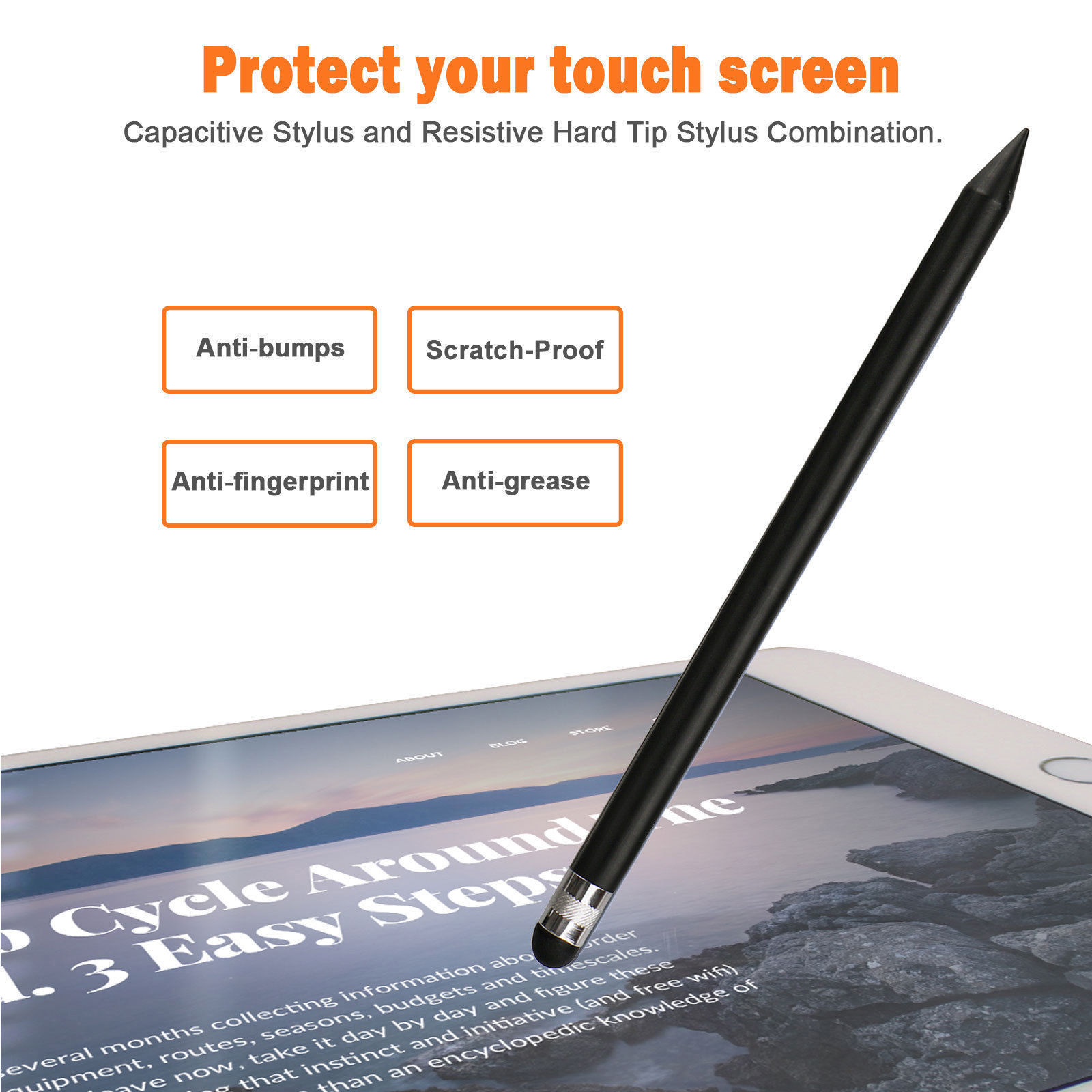 Capacitive-Pen-Touch-Screen-Stylus-Pencil-for-Tablet-iPad-Cell-Phone-Samsung-PC thumbnail 5