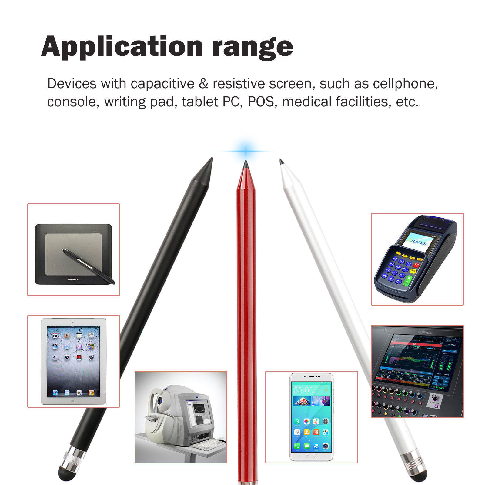 Capacitive-Pen-Touch-Screen-Stylus-Pencil-for-Tablet-iPad-Cell-Phone-Samsung-PC thumbnail 6