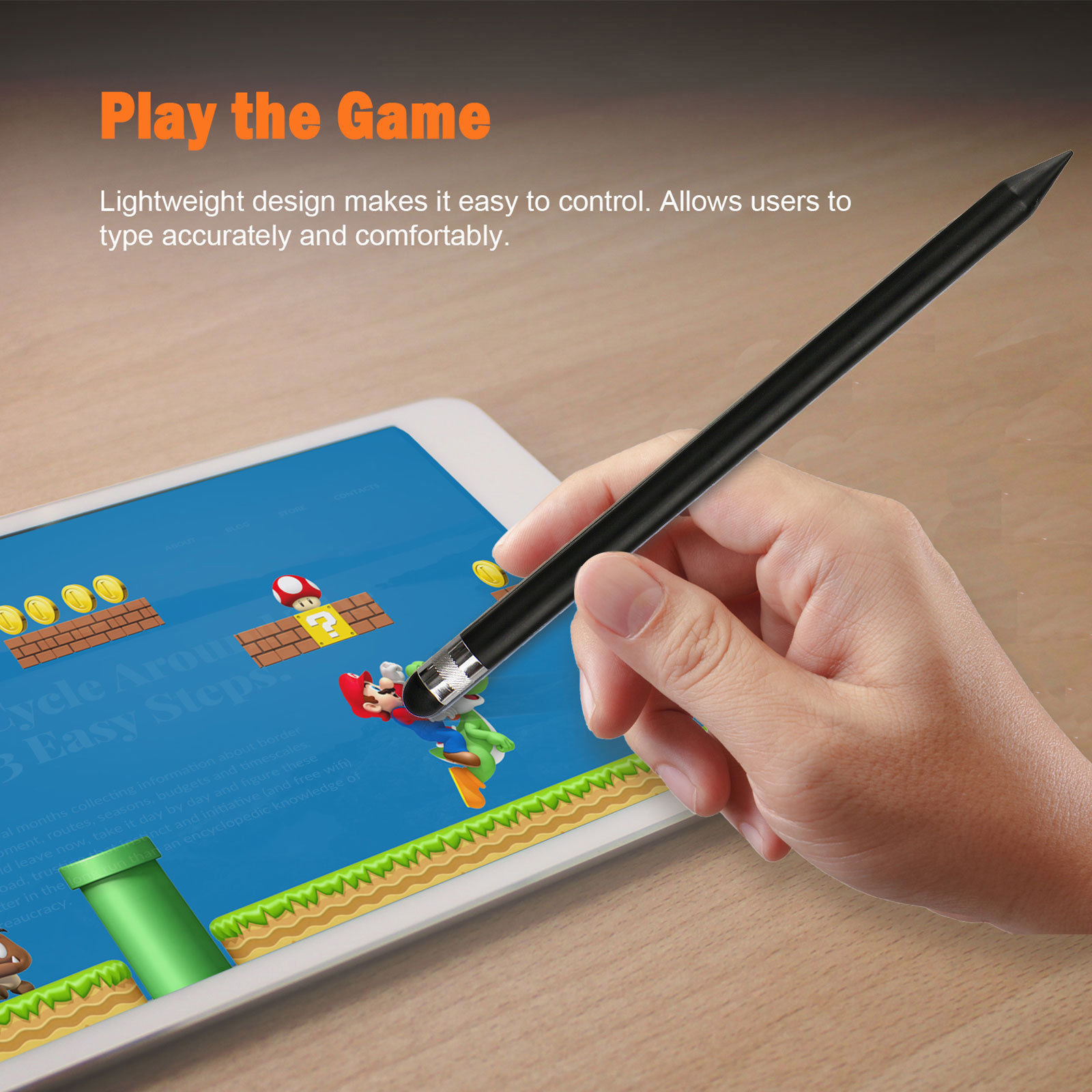 Capacitive-Pen-Touch-Screen-Stylus-Pencil-for-Tablet-iPad-Cell-Phone-Samsung-PC thumbnail 8