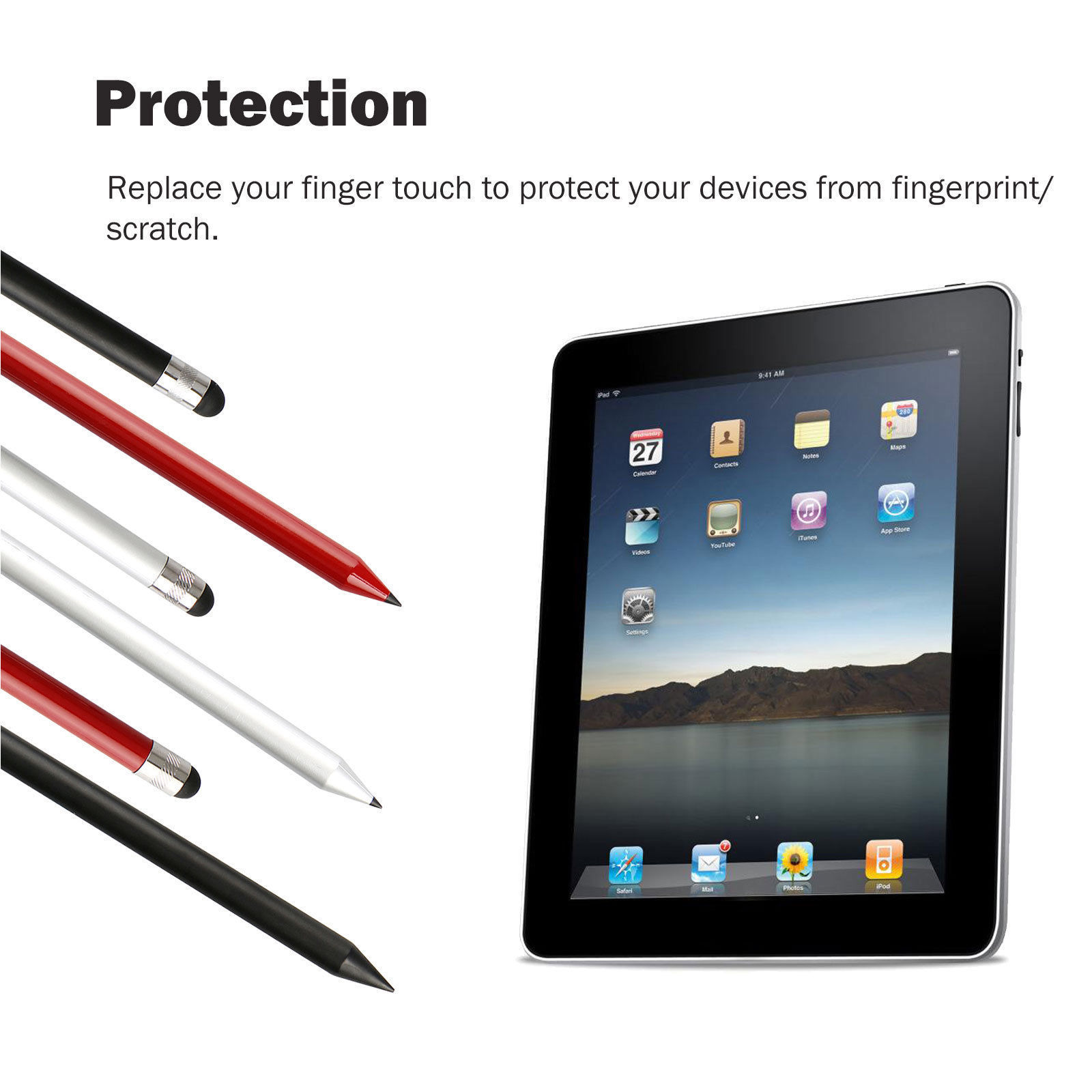 Capacitive-Pen-Touch-Screen-Stylus-Pencil-for-Tablet-iPad-Cell-Phone-Samsung-PC thumbnail 9