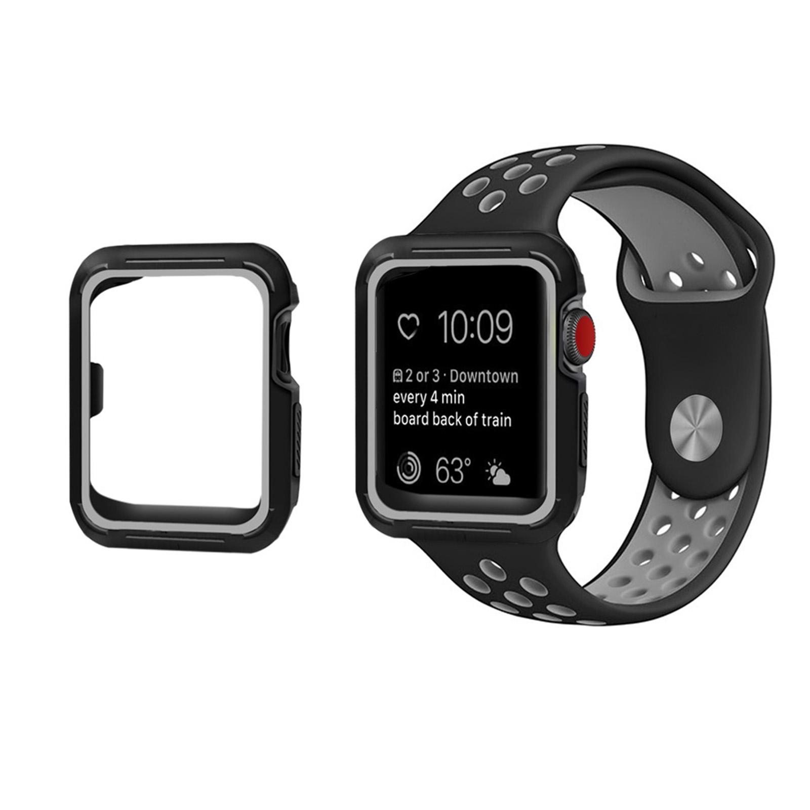 2648b33b88e TPU Bumper iWatch Screen Protector Case Cover 38 42 For Apple Watch ...