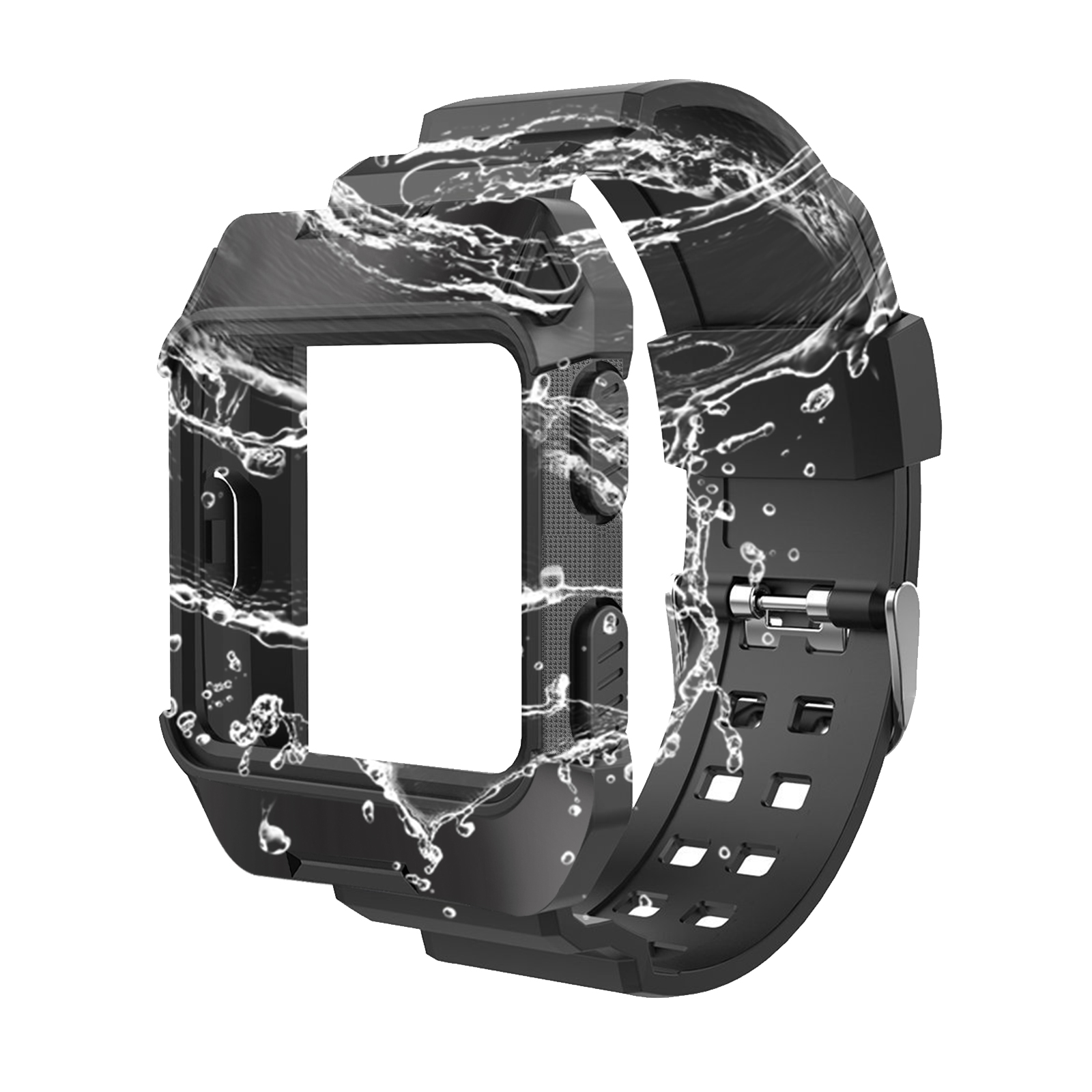 Black-Armor-For-Fitbit-Ionic-Rugged-Band-Protective-Case-Large-Wristband-Strap thumbnail 8