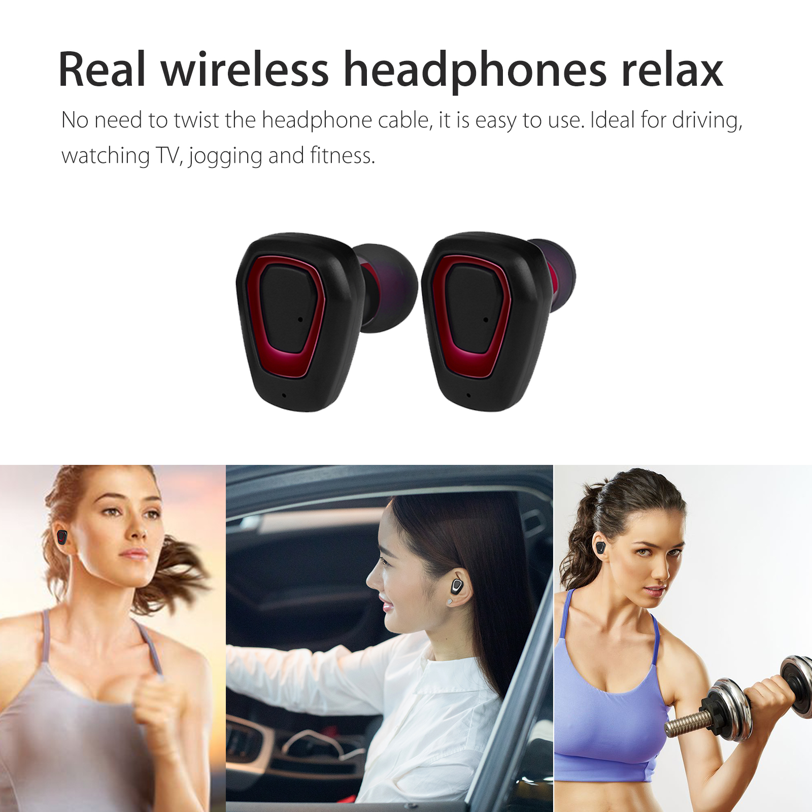 Bluetooth-V4-2-Earbud-Headphone-Wireless-Waterproof-Sweatproof-Noise-Cancelling