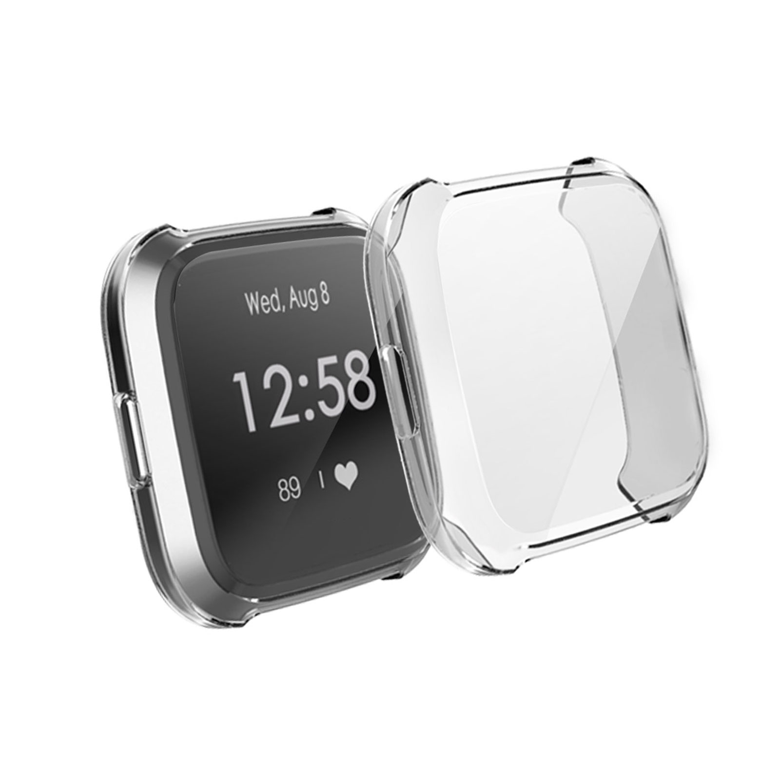 Silicone-TPU-Bumper-Protective-Rubber-Frame-Case-Cover-For-Fitbit-Versa-Lite-US thumbnail 12