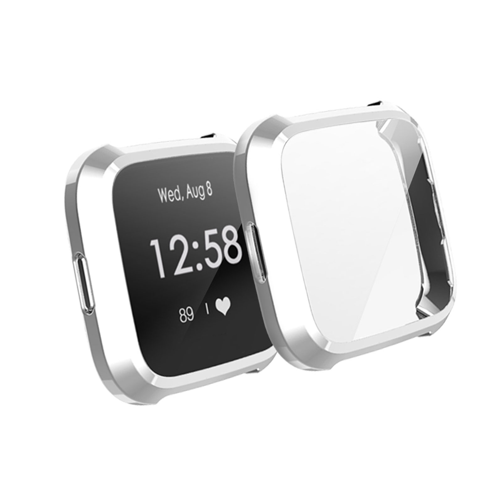 Silicone-TPU-Bumper-Protective-Rubber-Frame-Case-Cover-For-Fitbit-Versa-Lite-US thumbnail 14