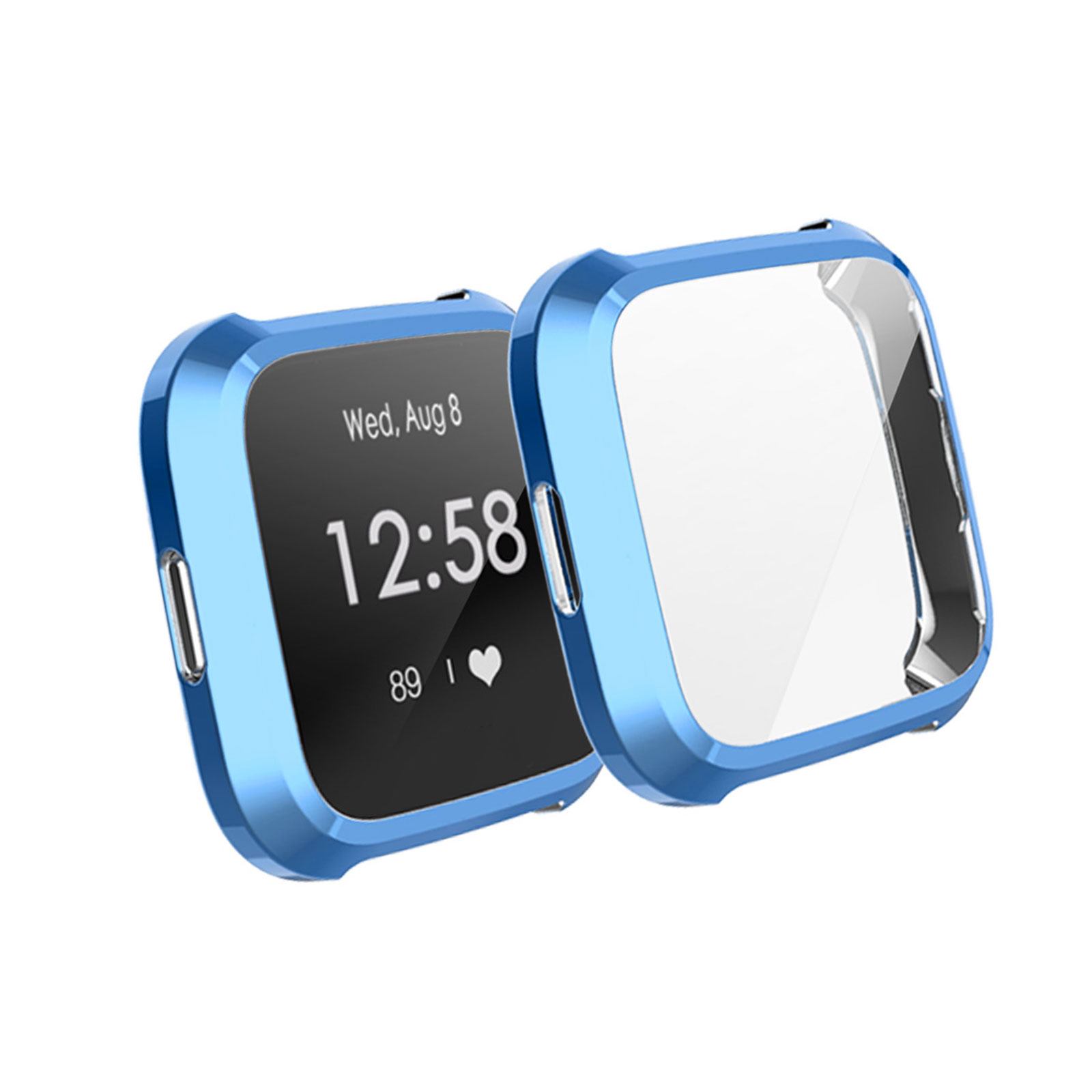 Silicone-TPU-Bumper-Protective-Rubber-Frame-Case-Cover-For-Fitbit-Versa-Lite-US thumbnail 11