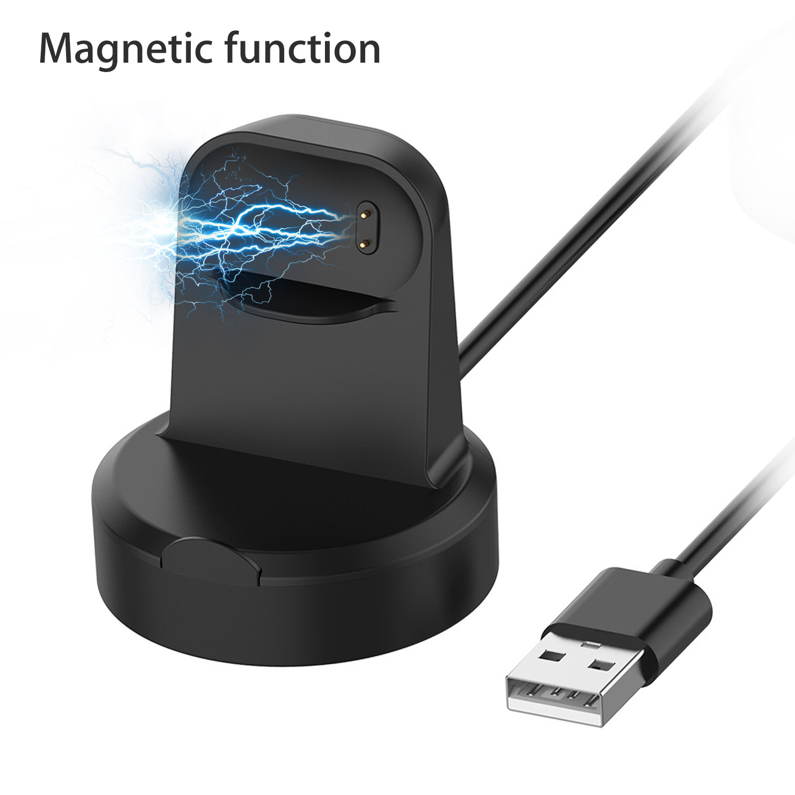 AM/_ Magnetic Smart Bracelet  Charger Cable Cradle for Fitbit Inspire HR//Inspire