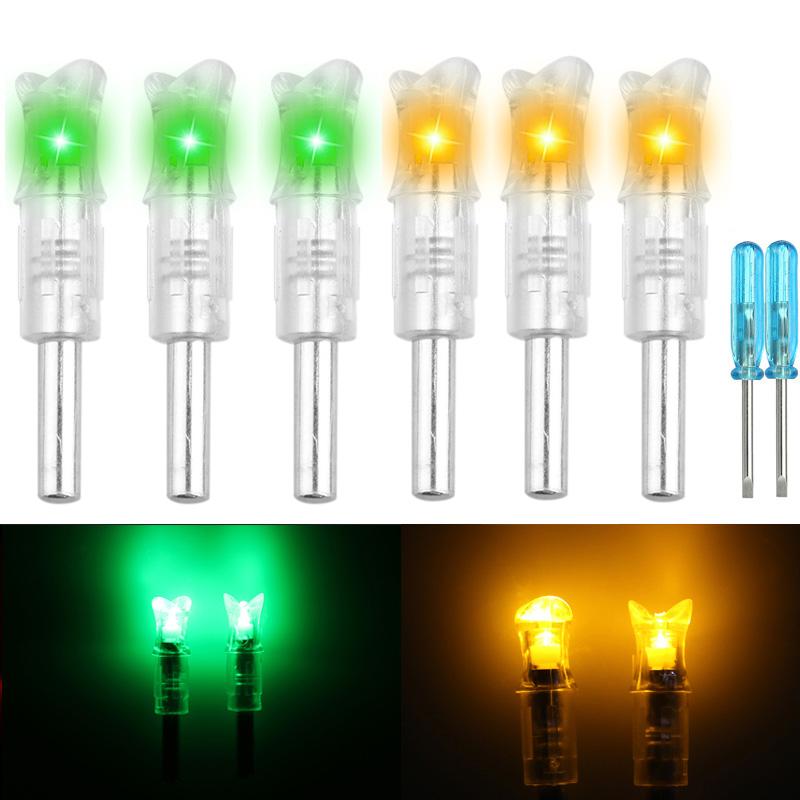 LOT-Automatically-LED-Lighted-Arrow-Nocks-Tail-for-Crossbow-Arrows-ID-297-302-039-039 thumbnail 12