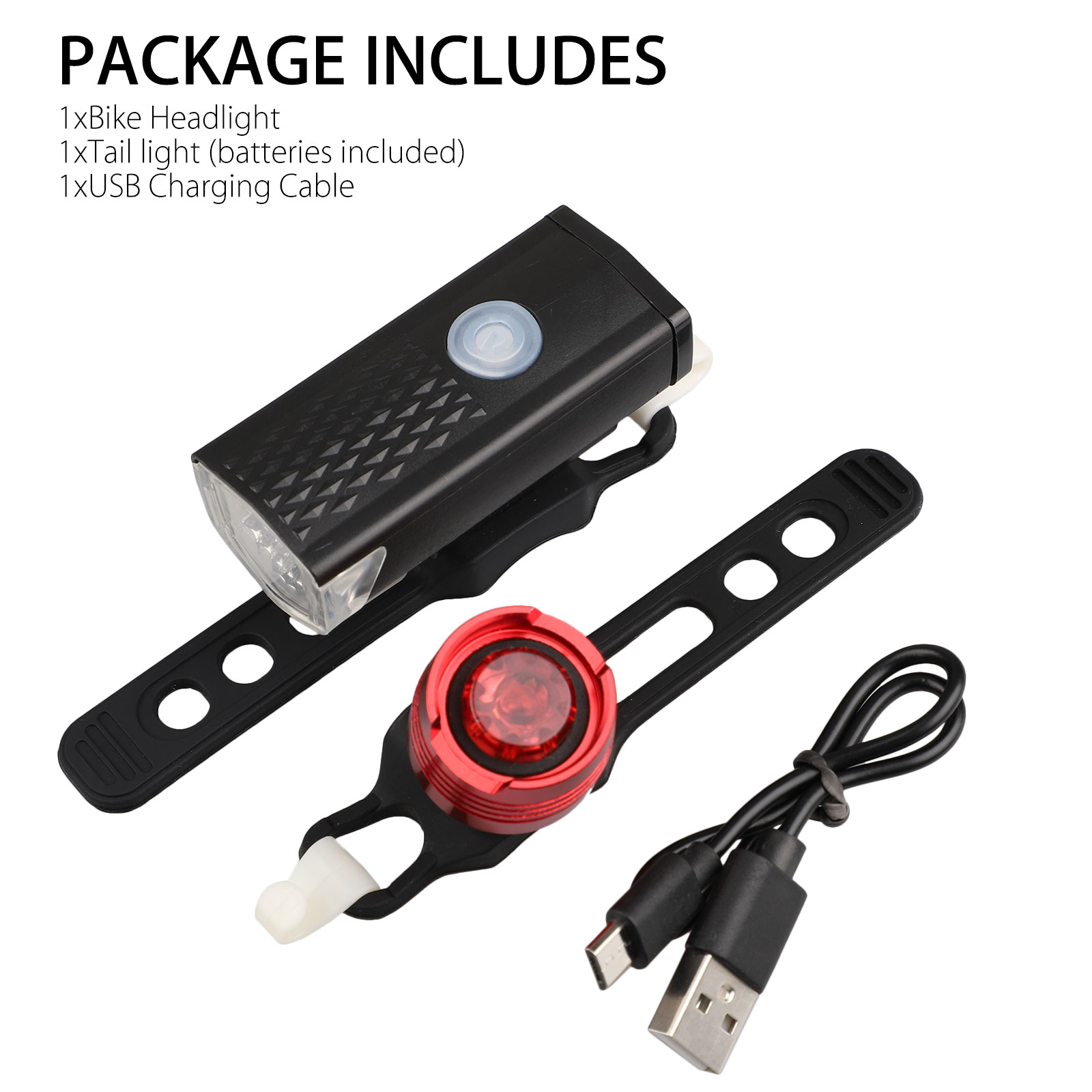 thumbnail 10 - LED-USB-Rechargeable-Bycicle-Light-Headlamp-Headlight-Bike-Front-Rear-Lamp-3Mode