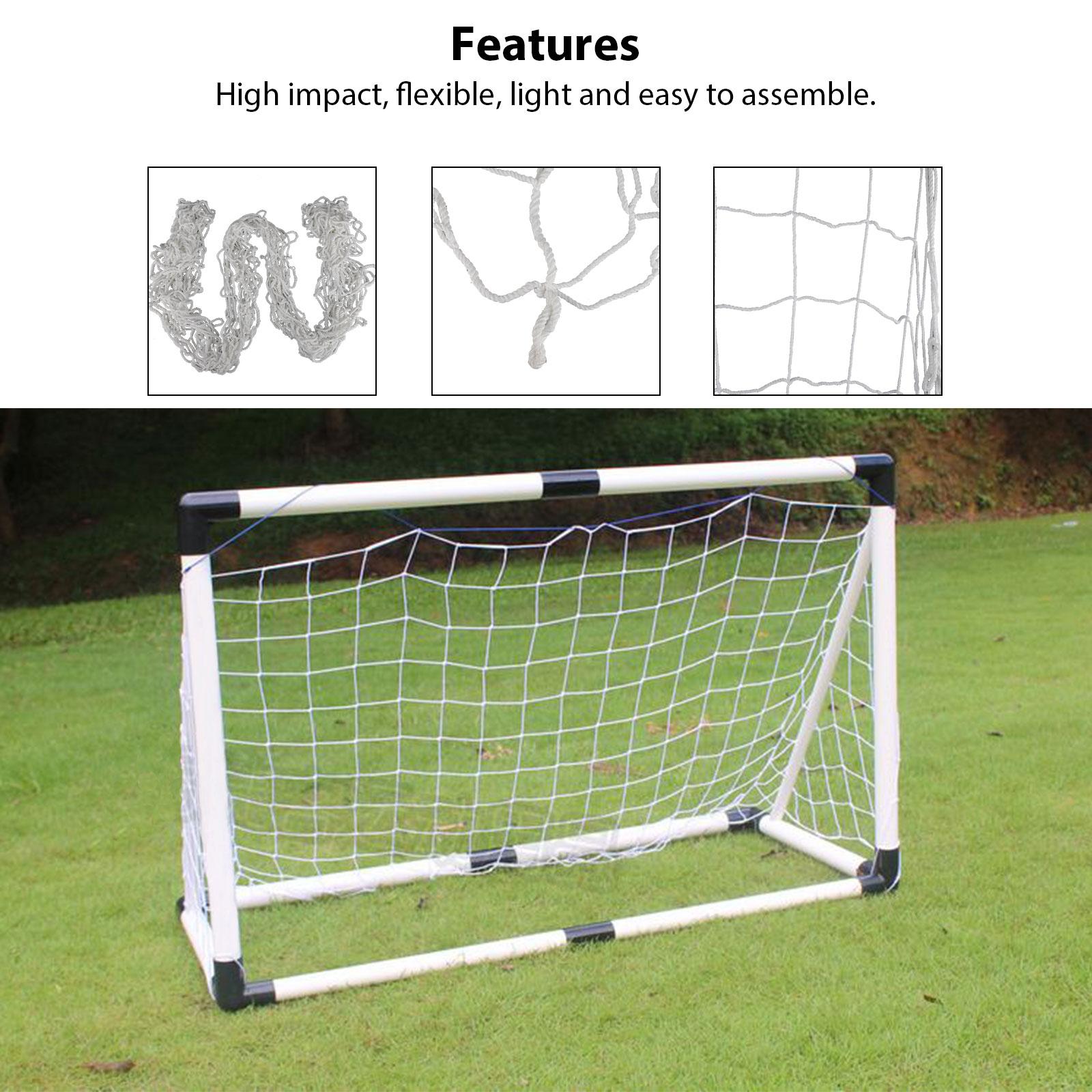 6-4ft-PE-Football-Soccer-Goal-Net-Outdoor-Backyard-Sport-Match-Training-for-Kids thumbnail 3