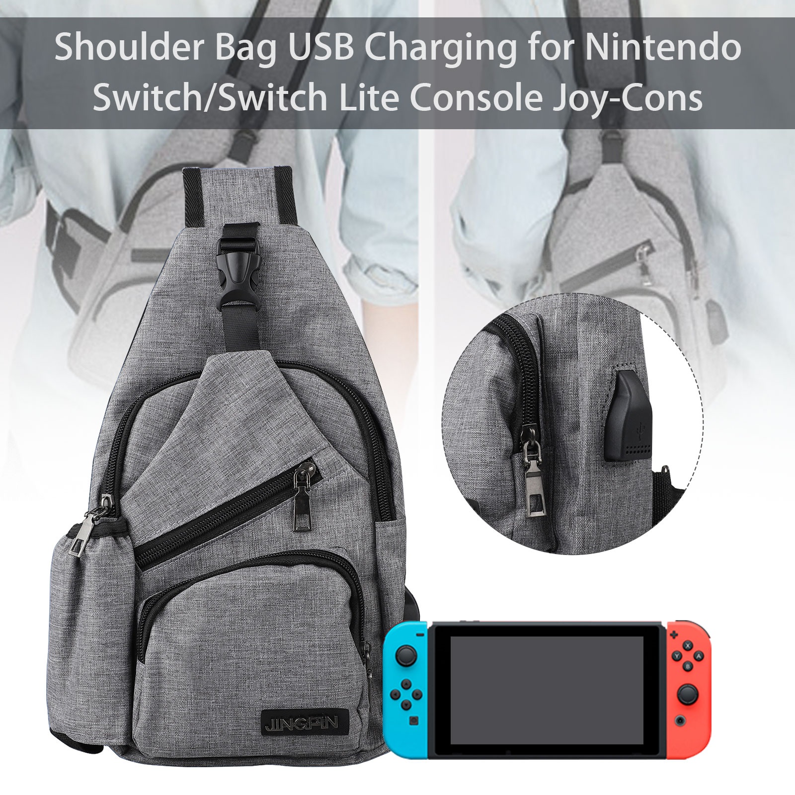 Backpack-Crossbody-Travel-Bag-For-Nintendo-Switch-Console-Joy-Cons-Accessories thumbnail 2