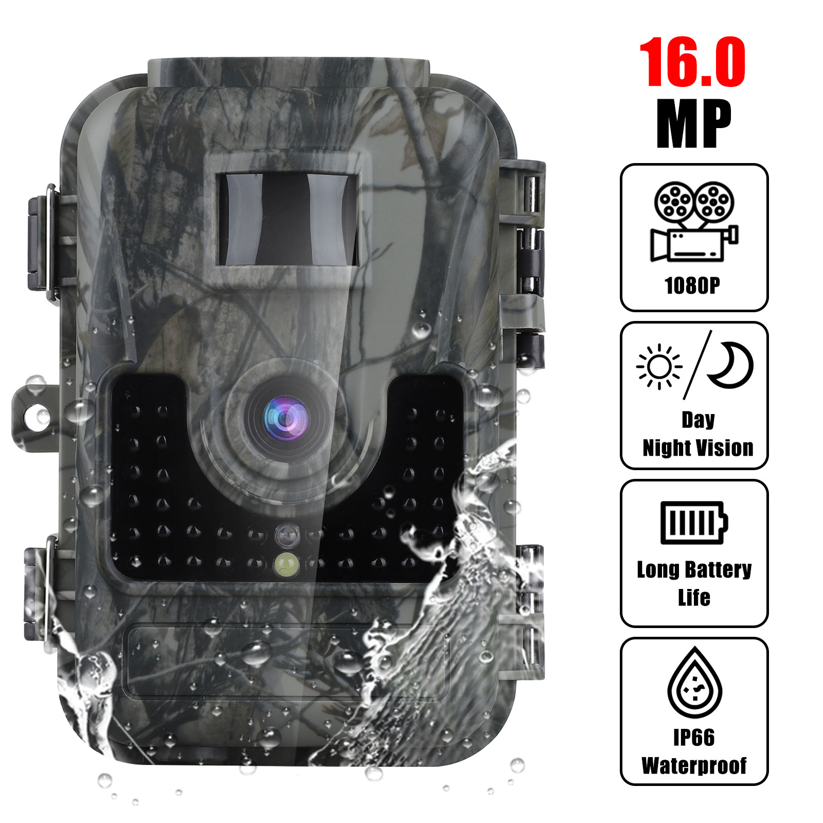 Trail-Game-Camera-16MP-FHD-1080P-Waterproof-IR-Outdoor-Hunting-Scouting-Wildlife