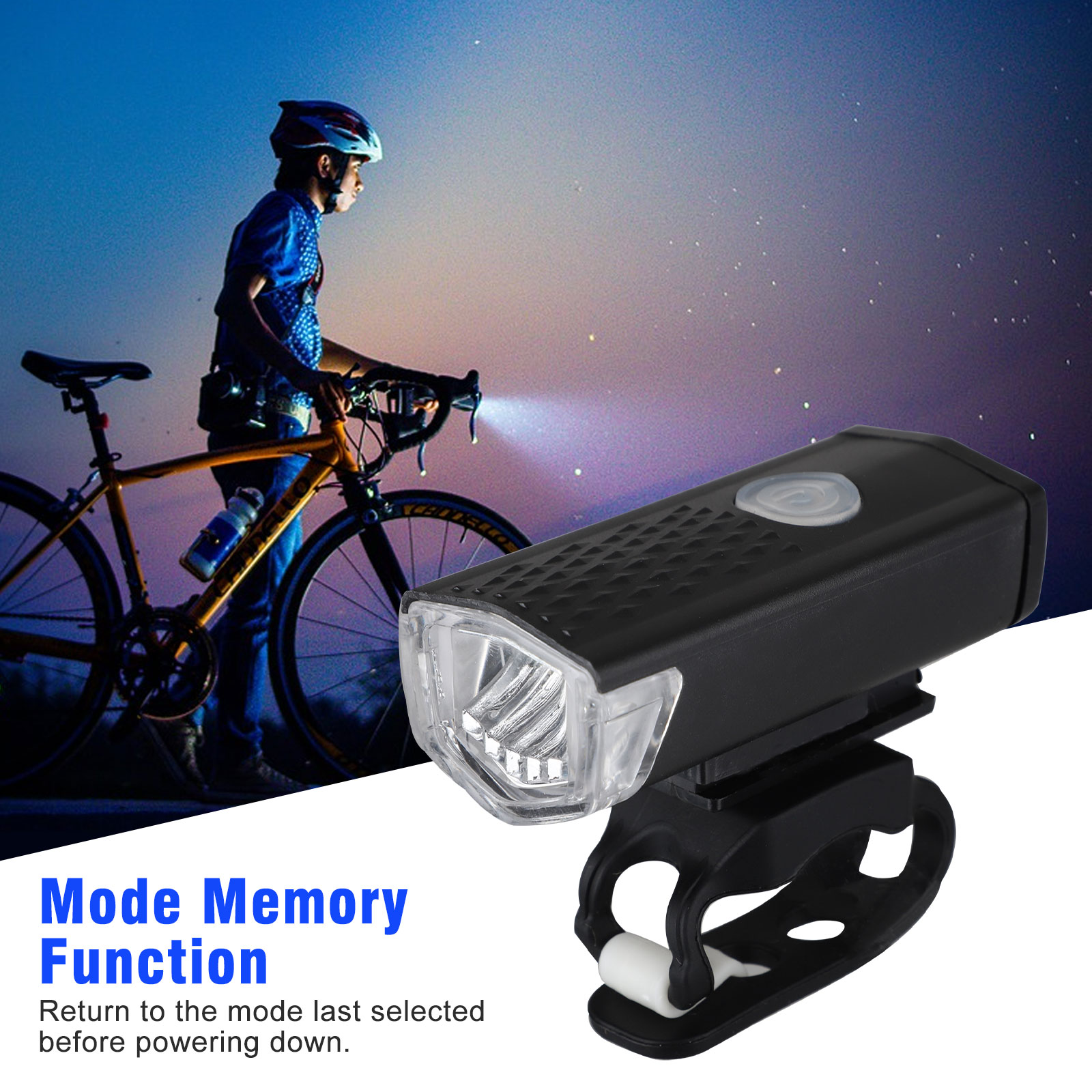 thumbnail 40 - LED-USB-Rechargeable-Bycicle-Light-Headlamp-Headlight-Bike-Front-Rear-Lamp-3Mode