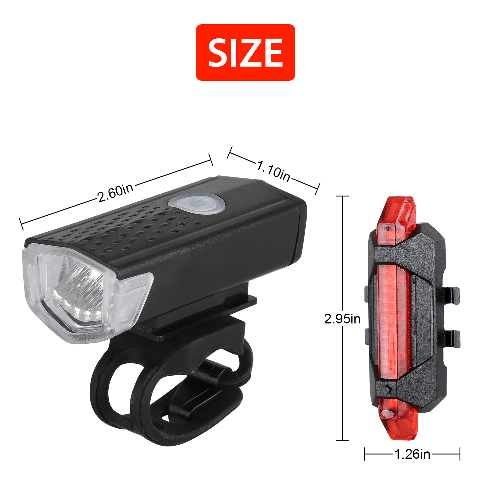 thumbnail 22 - LED-USB-Rechargeable-Bycicle-Light-Headlamp-Headlight-Bike-Front-Rear-Lamp-3Mode
